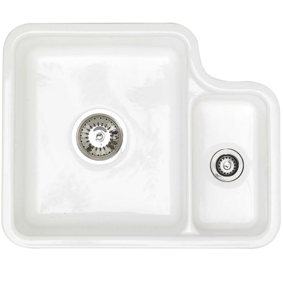 Astracast: Lincoln 1-5 White Ceramic Sink - Kitchen Sinks & Taps
