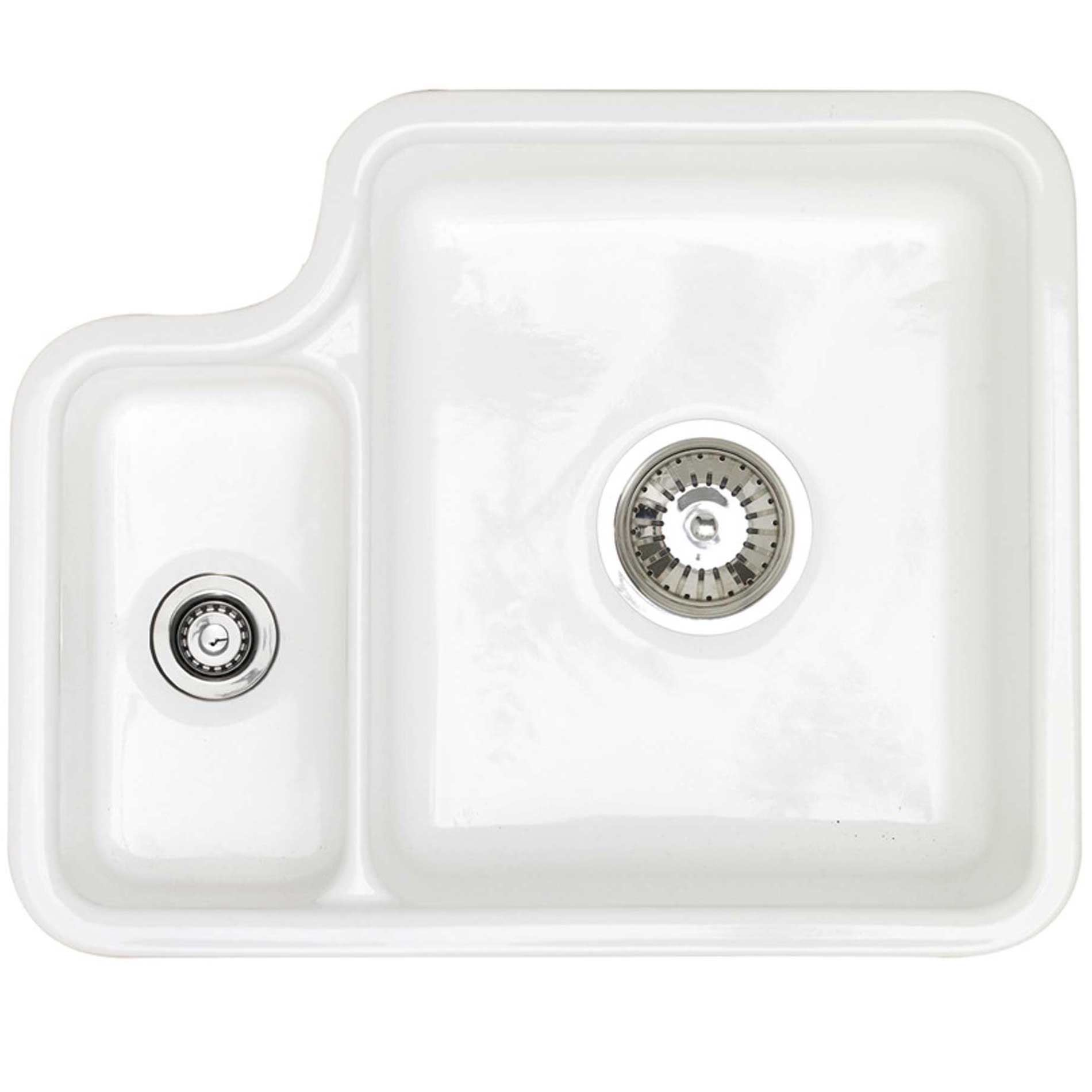 picture of lincoln 1 5 white ceramic sink astracast  lincoln 1 5 white ceramic sink   kitchen sinks  u0026 taps  rh   kitchensinksandtaps co uk