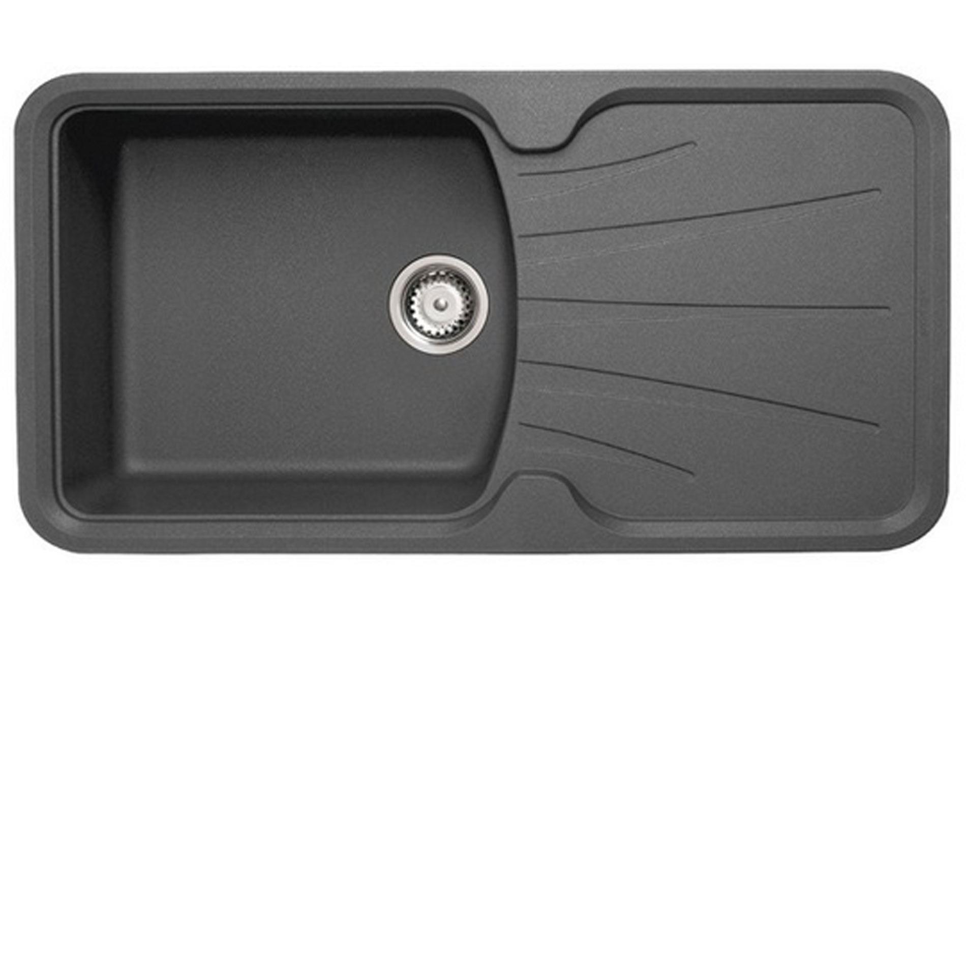 Graphite Kitchen Sinks CDA KG74GR 15 Bowl GraniteQuartz Composite ...