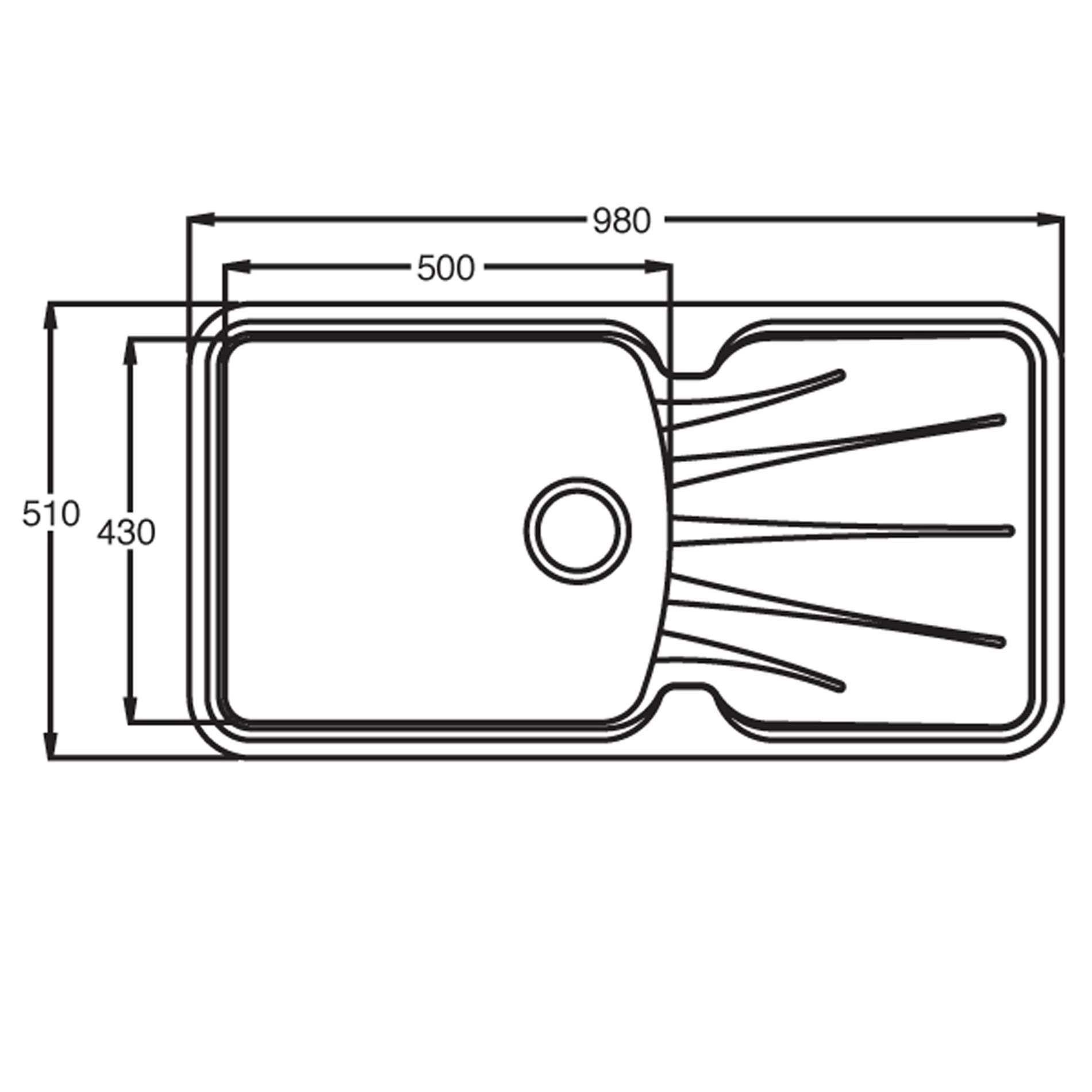 Astracast: Korona 1-0 ROK Metallic Graphite Grey Granite Sink ...