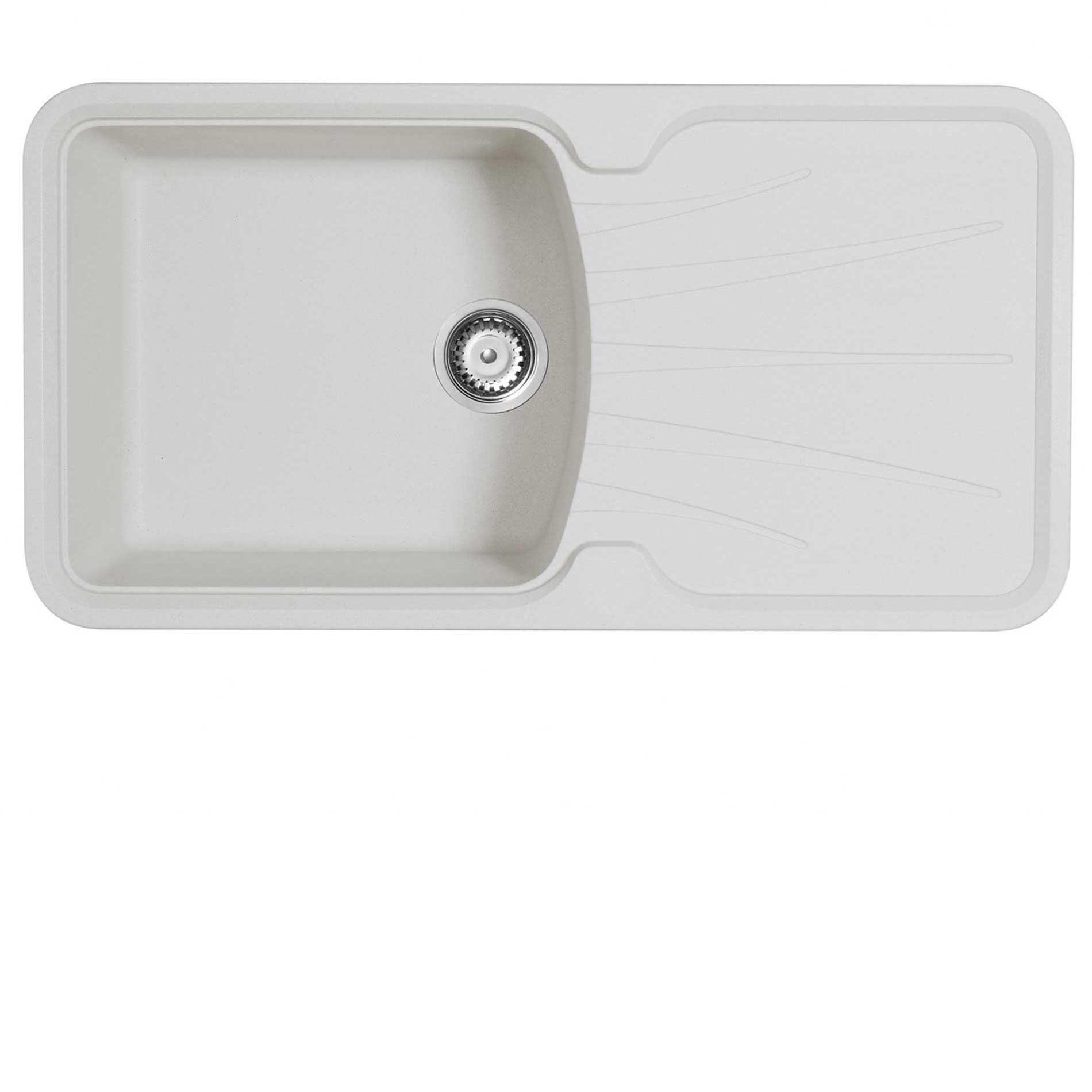 Astracast: Korona 1-0 Granite ROK Opal White Sink - Kitchen Sinks & Taps