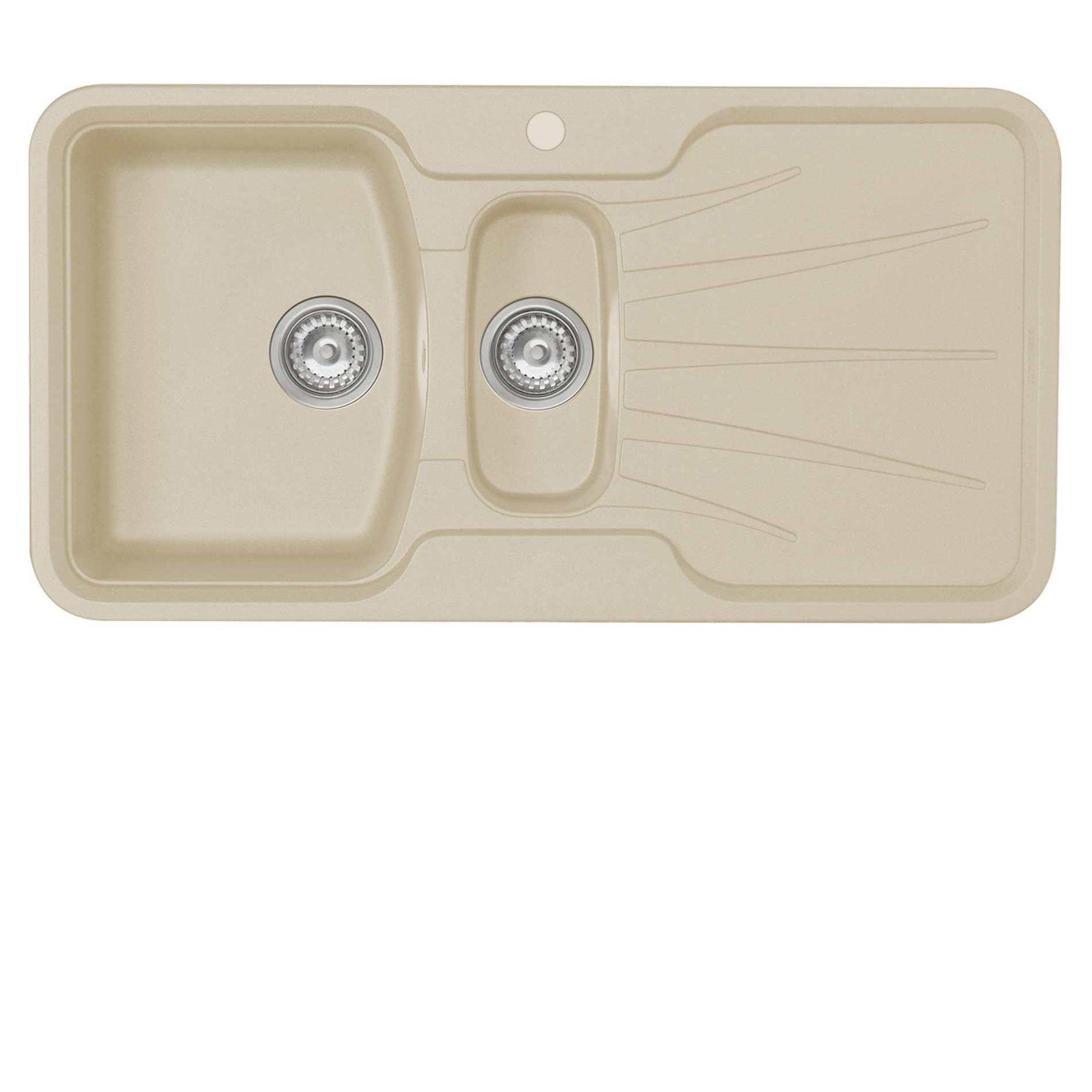 picture of korona 1 5 granite rok sahara beige sink astracast  korona 1 5 granite rok sahara beige sink   kitchen      rh   kitchensinksandtaps co uk