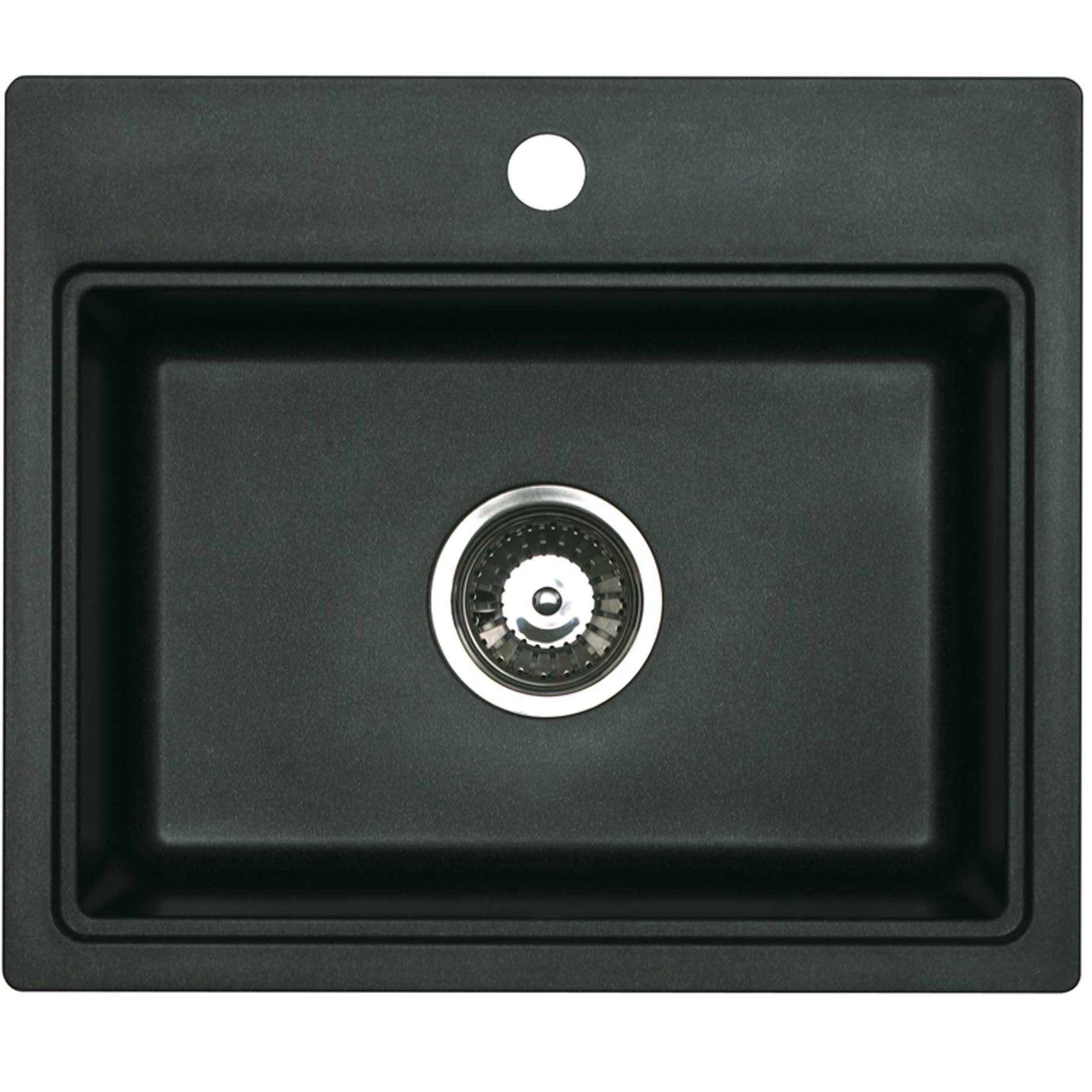 Rok Granite Sinks : ... ROK Metallic Volcano Black Granite Sink - Kitchen Sinks & Taps