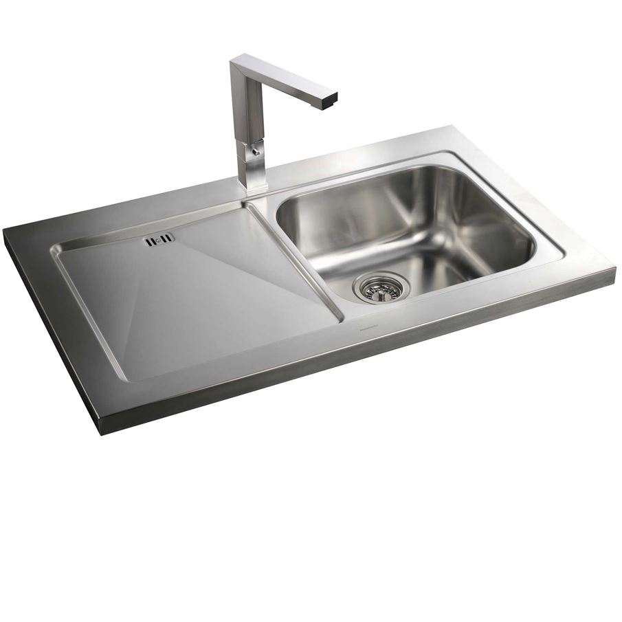 Sinks Uk : ... : Mezzo MZ10001 Sit On Stainless Steel Sink - Kitchen Sinks & Taps