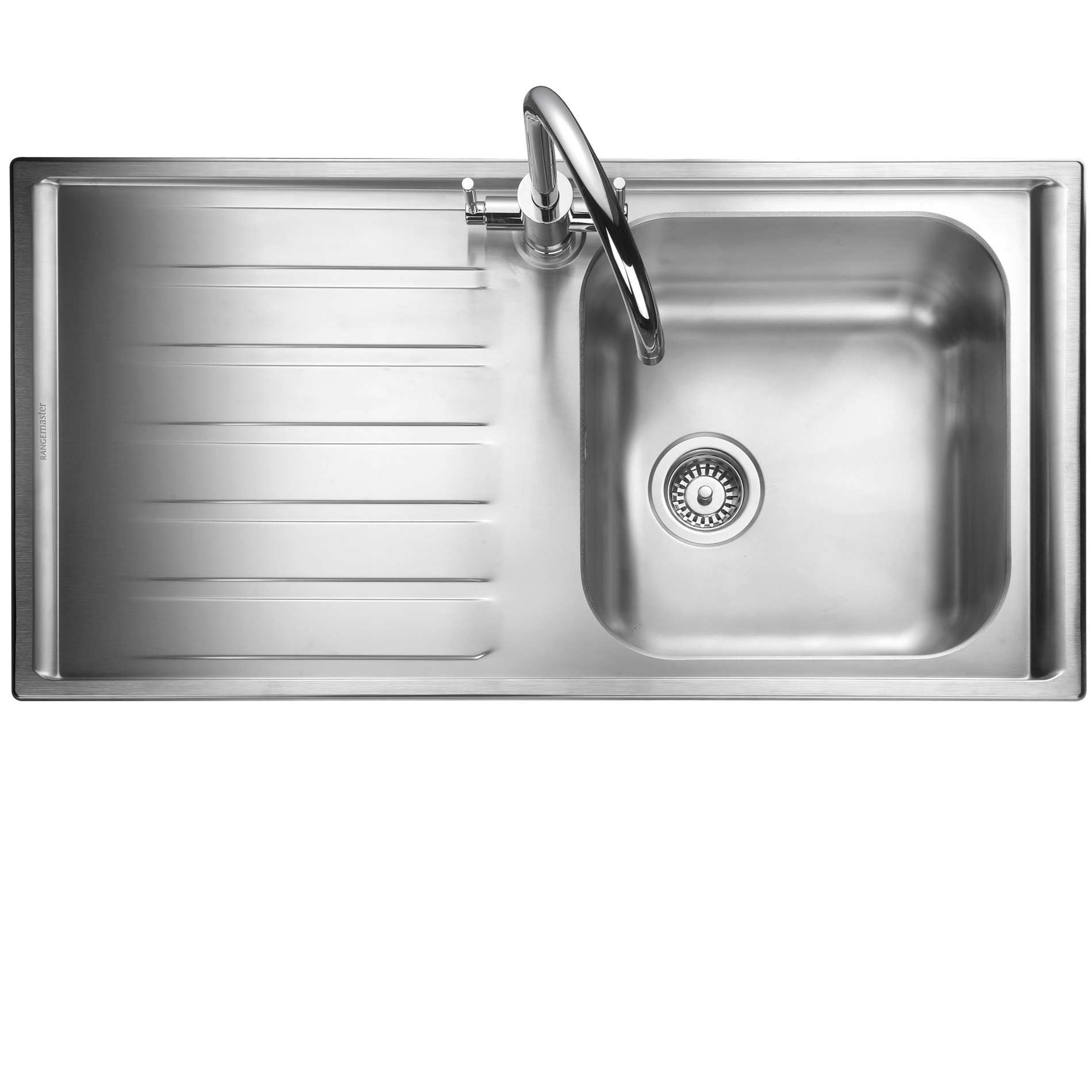 kitchen taps and sinks rangemaster manhattan mn10101 stainless steel sink 6229
