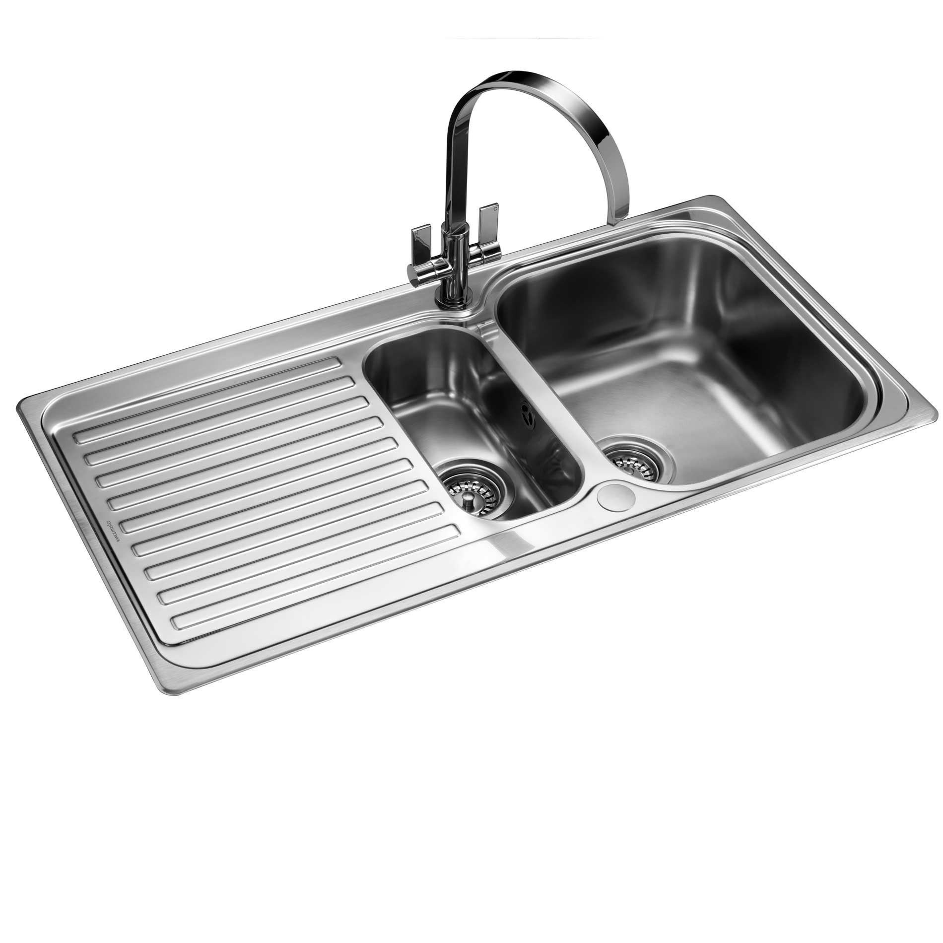 picture of sedona 1 5 sd9852 stainless steel sink rangemaster  sedona 1 5 sd9852 stainless steel sink   kitchen      rh   kitchensinksandtaps co uk
