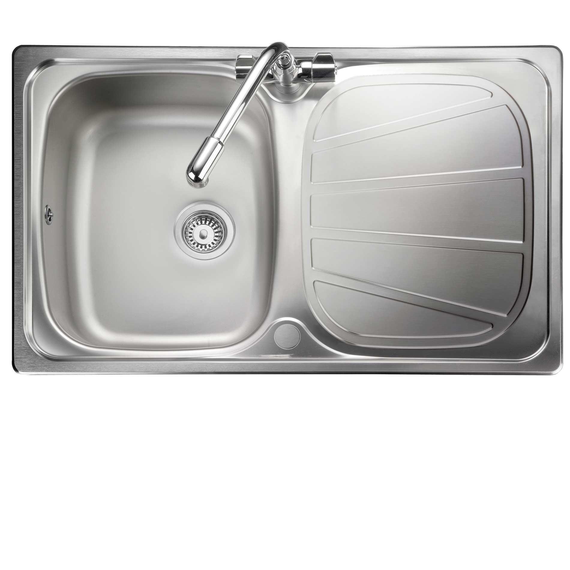 rangemaster: baltimore compact bl8001 stainless steel sink