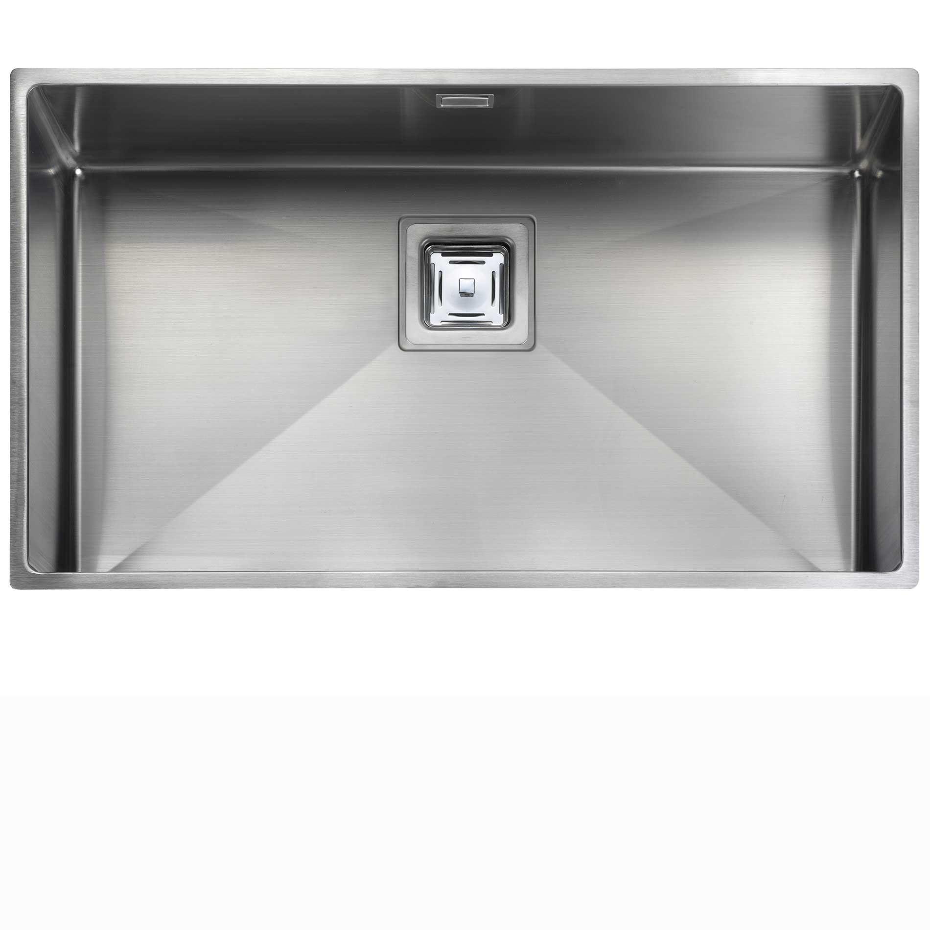Rangemaster atlantic kube kub70 stainless steel sink for The kitchen sink company
