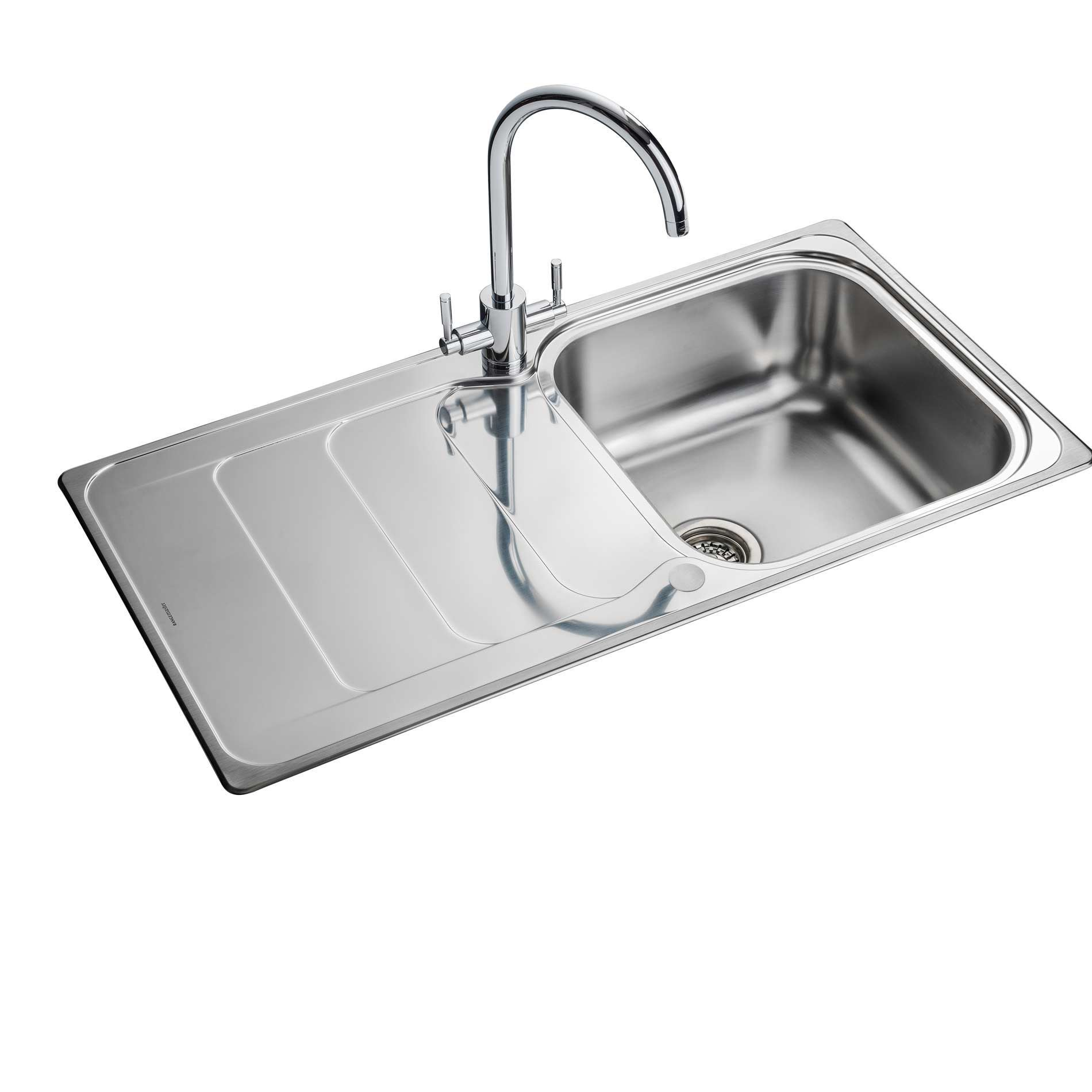 Rangemaster: Houston 1-0 HS9851 Stainless Steel Sink - Kitchen ...