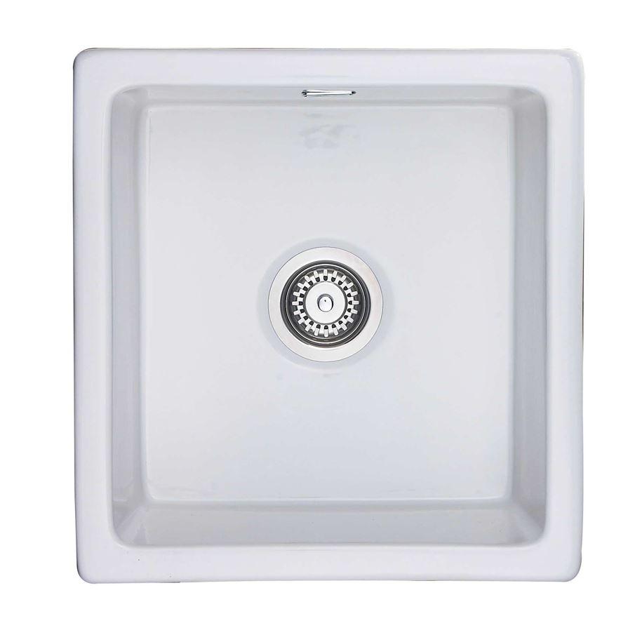 Rangemaster: Rustique CRUB4648WH Ceramic Sink - Kitchen Sinks & Taps