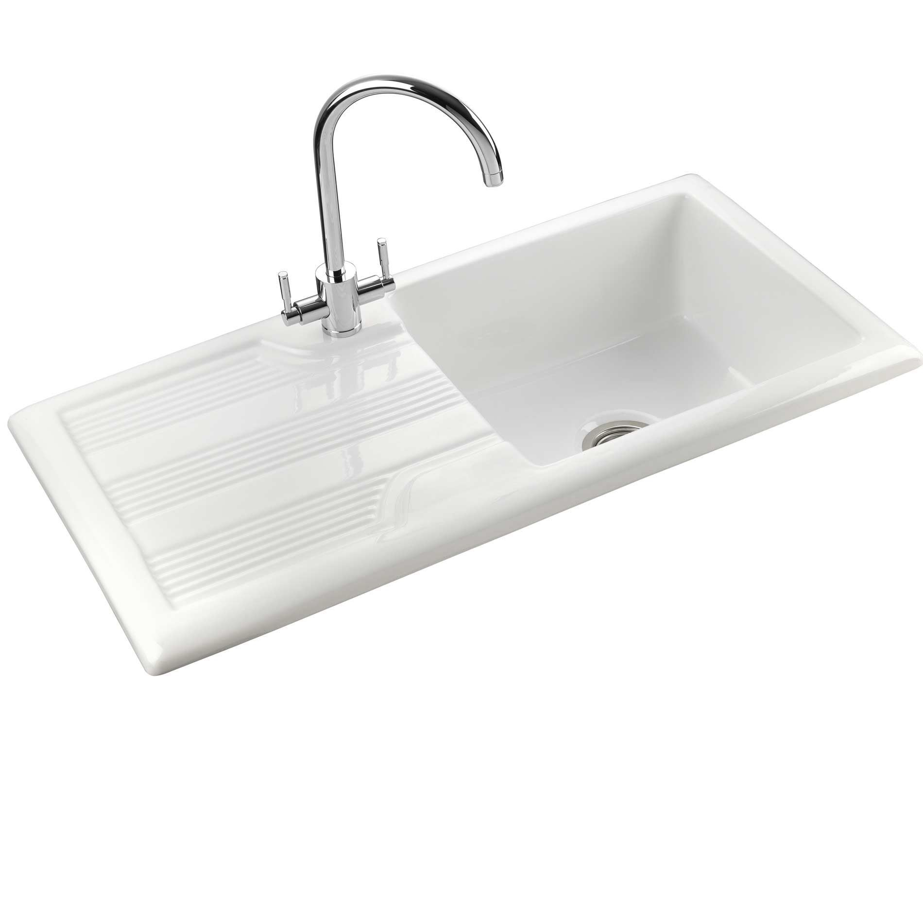 Rangemaster Kitchen Sinks Rangemaster portland cpl10101wh ceramic sink kitchen sinks taps picture of portland cpl10101wh ceramic sink workwithnaturefo