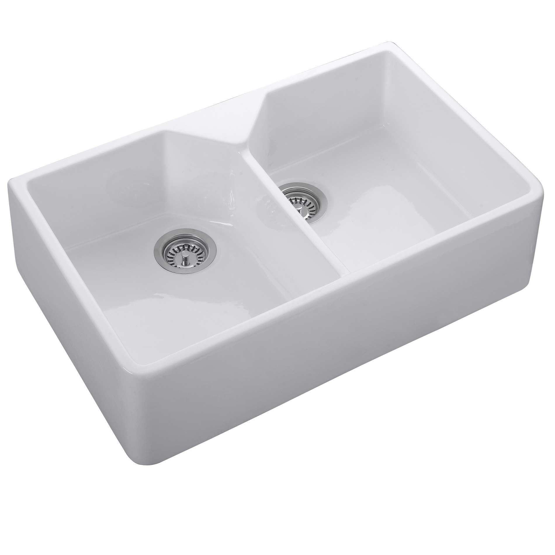 Rangemaster Double Belfast Cdb800wh Ceramic Sink