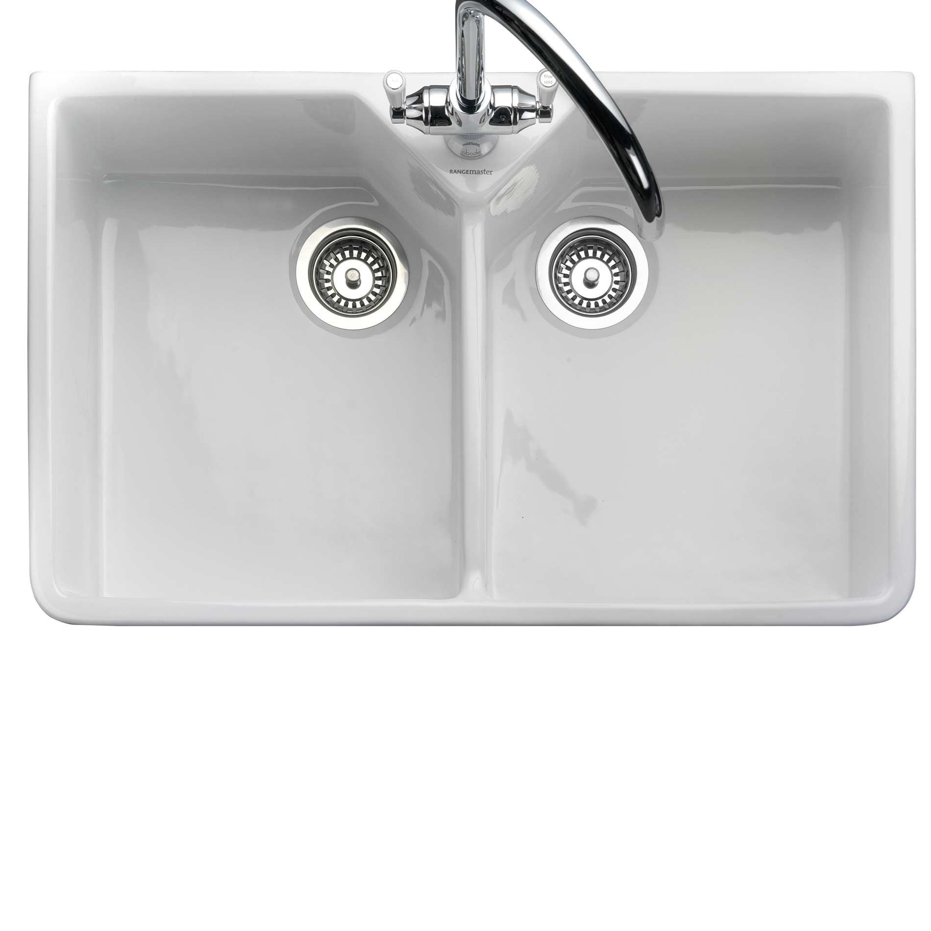 Rangemaster Kitchen Sinks Rangemaster double belfast cdb800wh ceramic sink kitchen sinks taps picture of double belfast cdb800wh ceramic sink workwithnaturefo