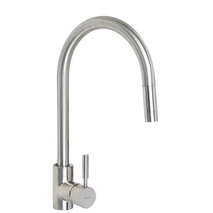 Picture of Rangemaster: Aquatrend Single Lever TRE1SLPOBF Pull Out Brushed Tap