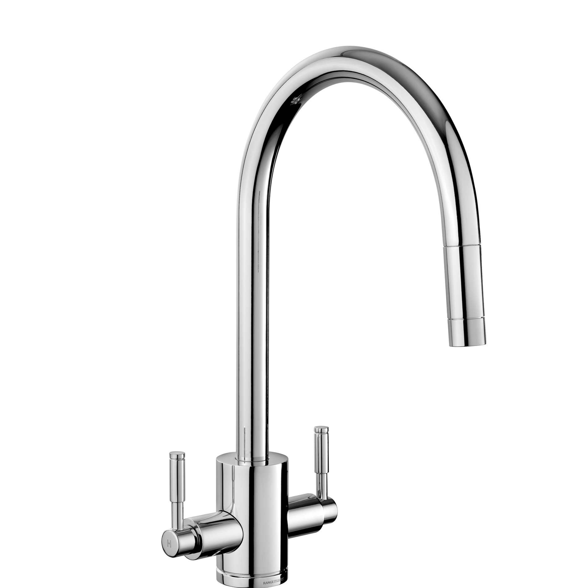 rangemaster aquatrend tre1pocm pull out chrome tap kitchen sinks