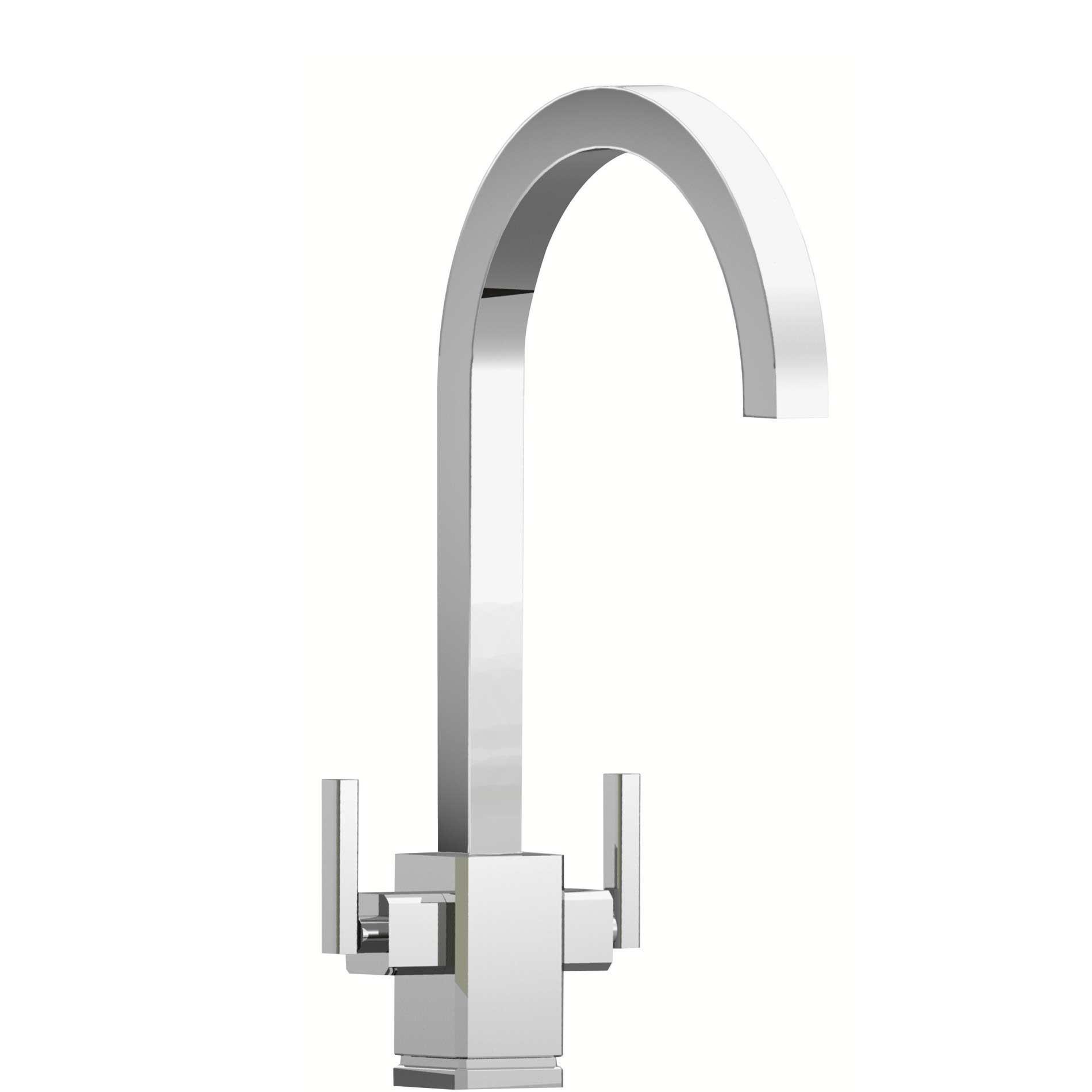 Rangemaster: Quadrant Monobloc TQM1CM Chrome Tap - Kitchen Sinks & Taps