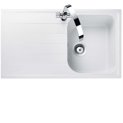 Picture of Rangemaster: Amethyst AME860 Crystal White Igneous Sink