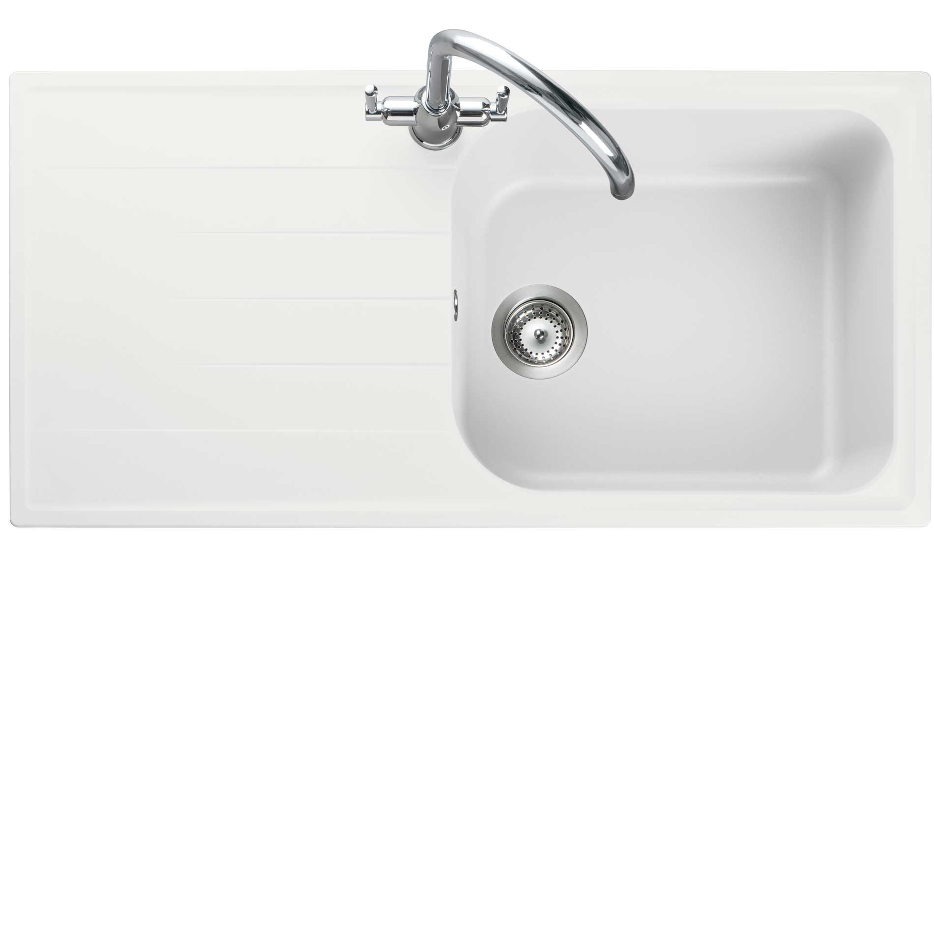 Picture Of Amethyst AME1051 Crystal White Igneous Sink