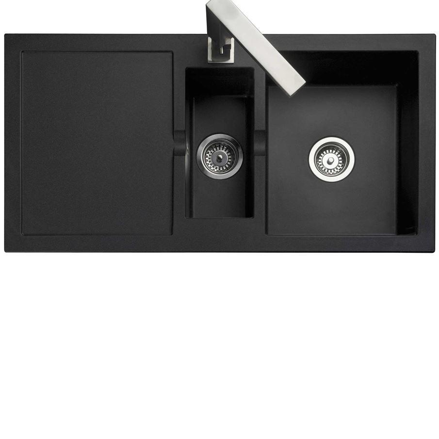 Blackrock Kitchen: Rangemaster: Cubix CX9852 Black Neo-Rock Sink