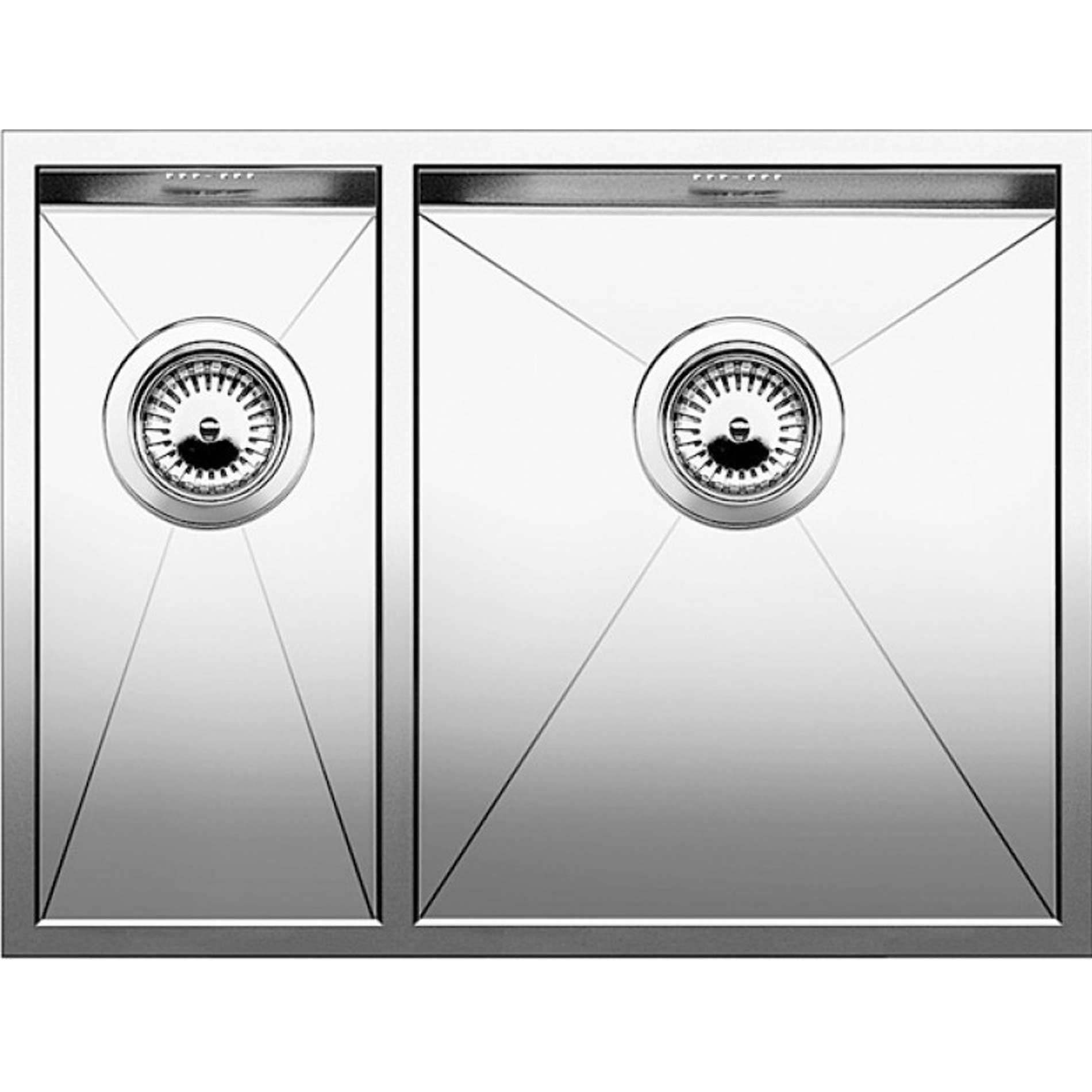 Blanco zerox 700 u stainless steel undermount sink - Blanco Zerox 340 180 U Stainless Steel Sink