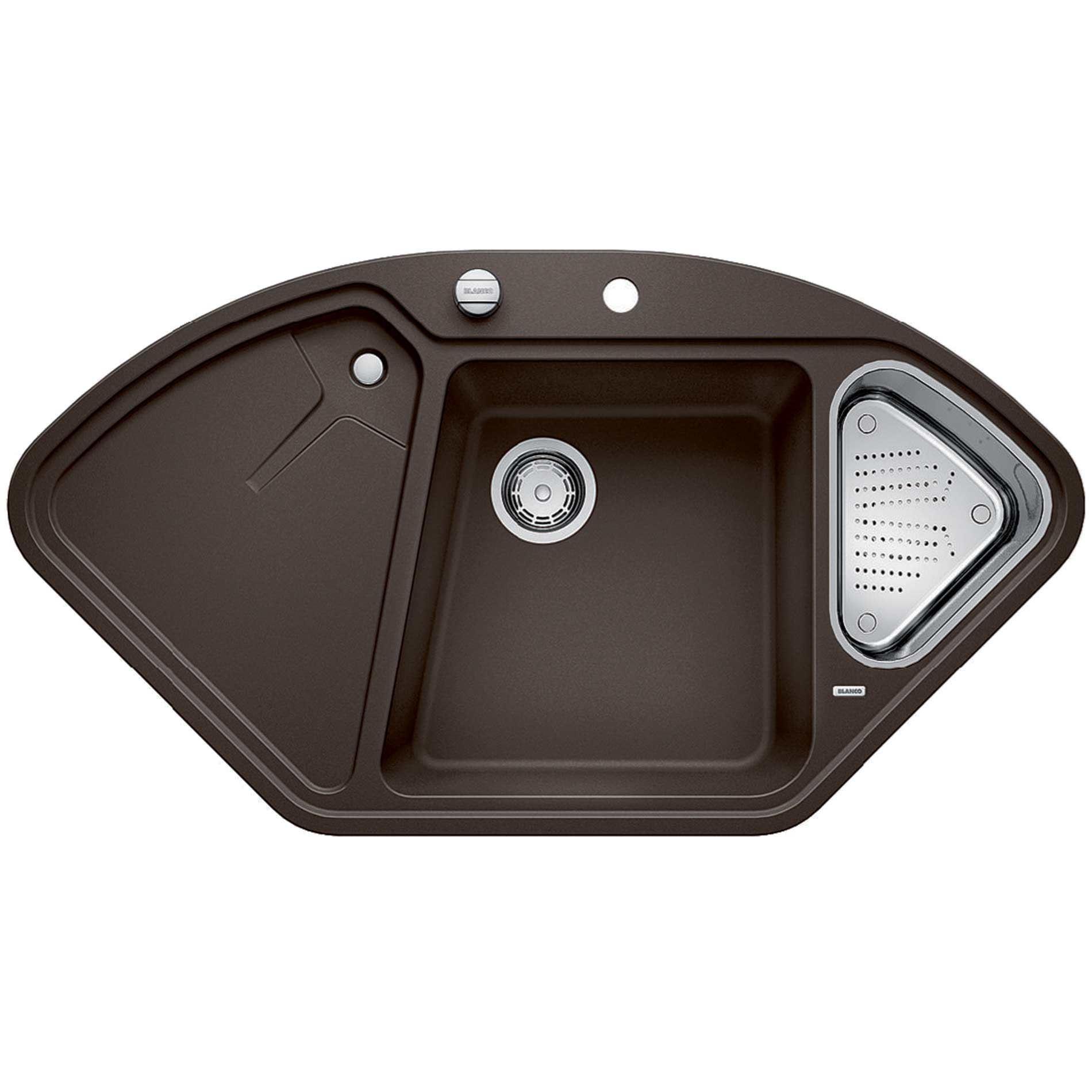 Blanco delta ii coffee silgranit sink kitchen sinks taps for Silgranit ii sinks