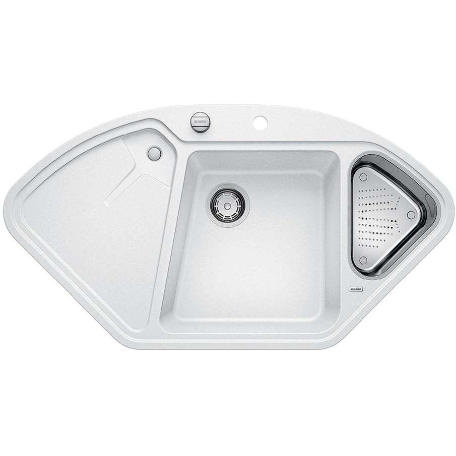 Blanco Silgranit White : Blanco: Delta II White Silgranit Sink - Kitchen Sinks & Taps