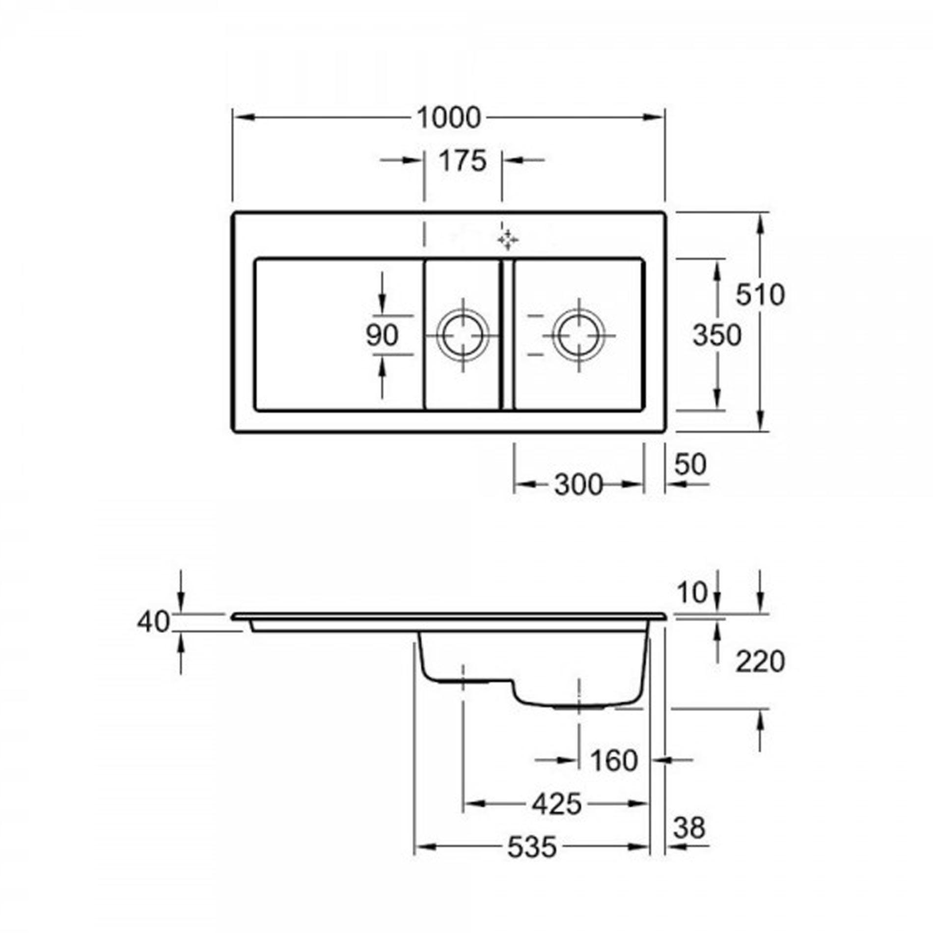 villeroy boch subway 60xr ceramic sink kitchen sinks. Black Bedroom Furniture Sets. Home Design Ideas