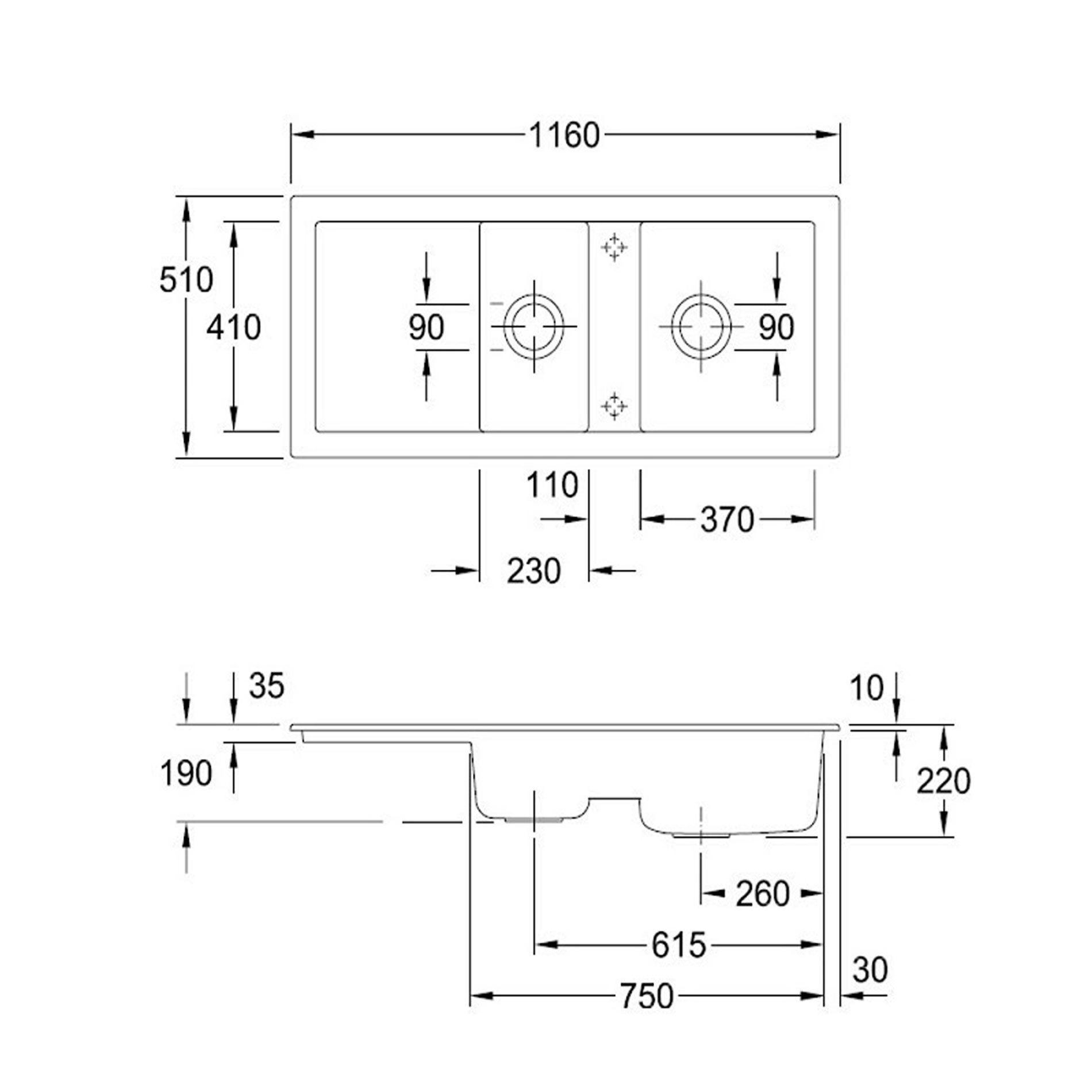 villeroy boch subway 80 ceramic sink kitchen sinks taps. Black Bedroom Furniture Sets. Home Design Ideas