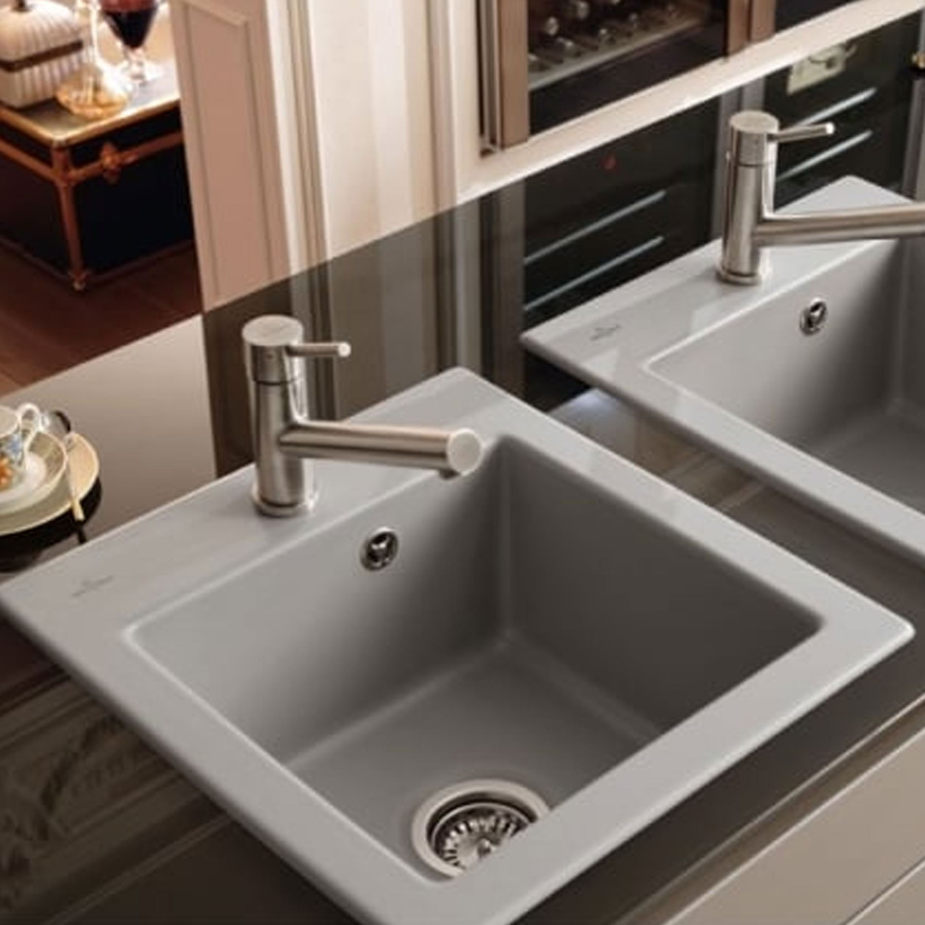 Villeroy & Boch: Subway 45 XS Fossil Ceramic Sink - Kitchen Sinks & Taps