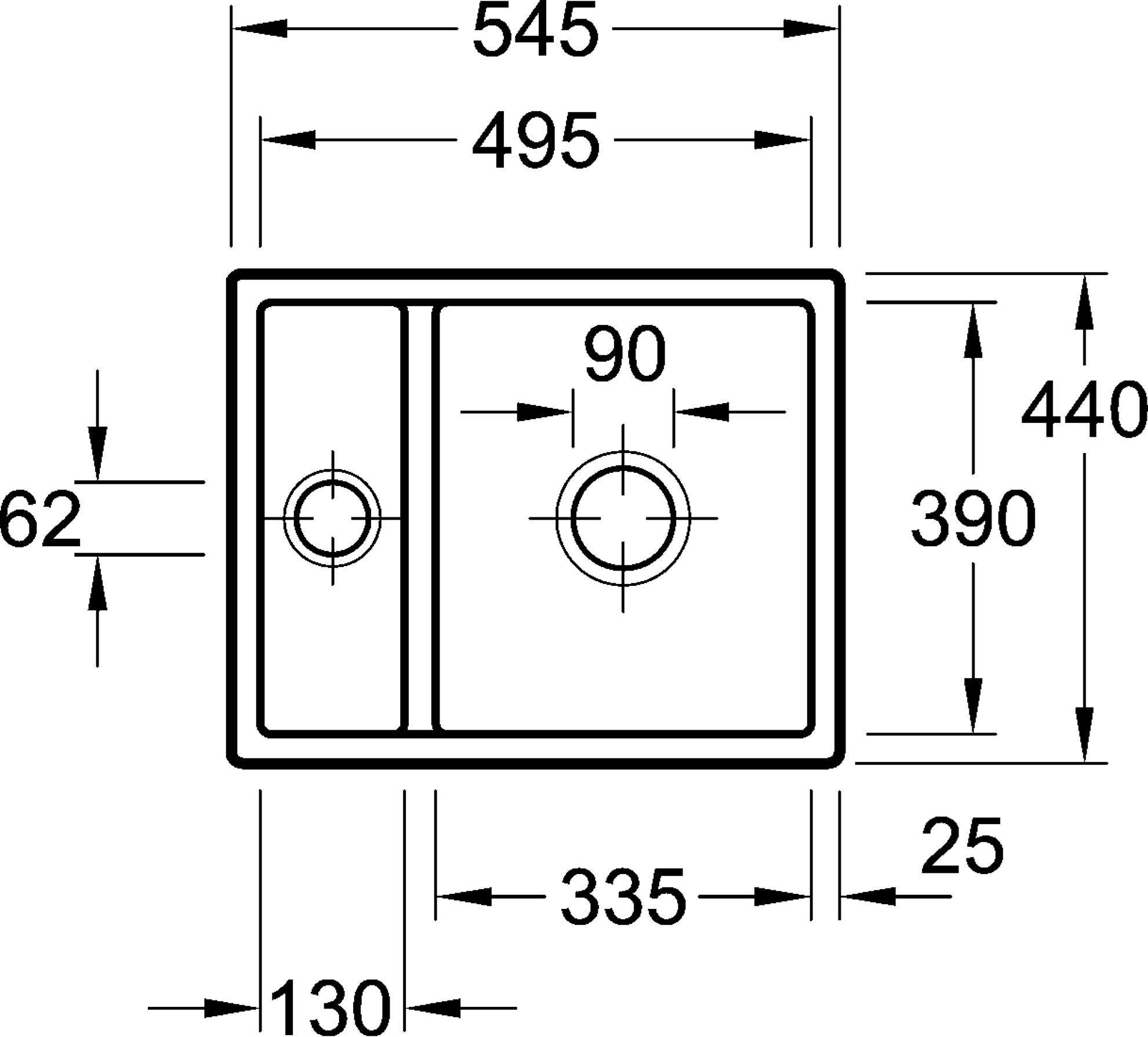villeroy boch subway 60xu ceramic sink kitchen sinks. Black Bedroom Furniture Sets. Home Design Ideas