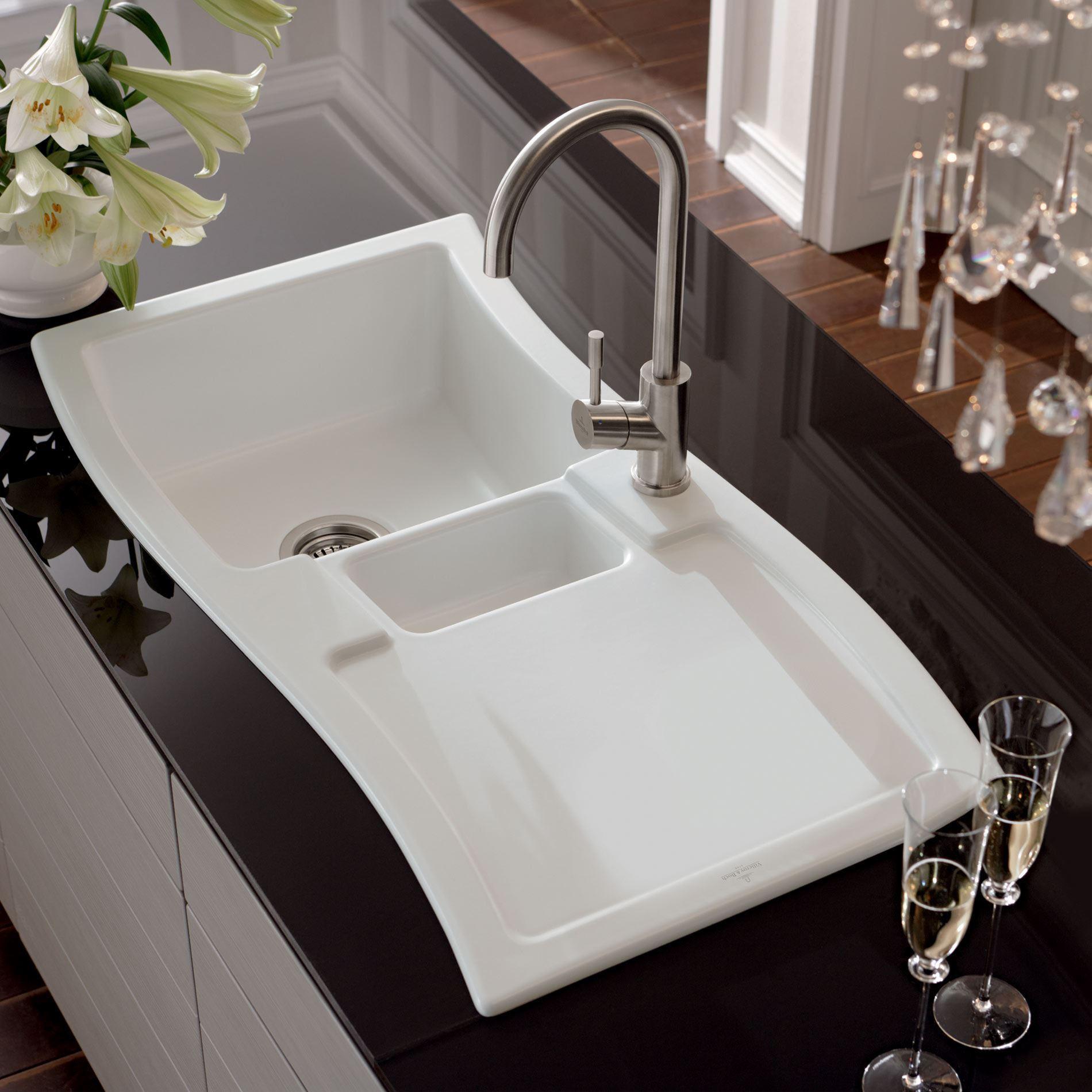 Kitchen Sinks Amp Taps Villeroy Amp Boch Newwave Ceramic Sink