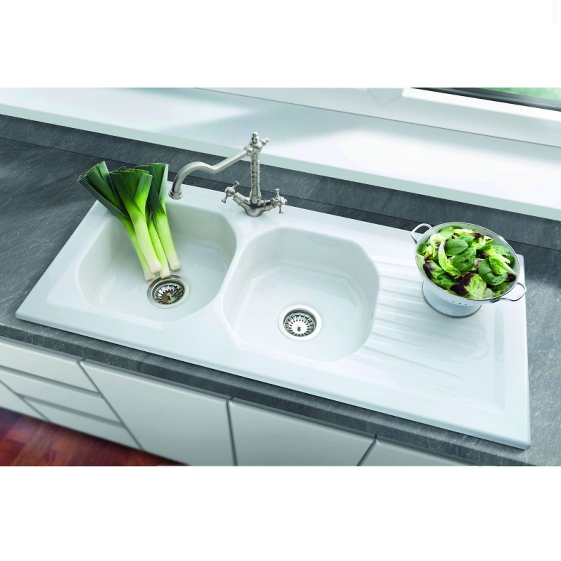 kitchen sinks taps villeroy boch ravel 2 0 bowl ceramic sink
