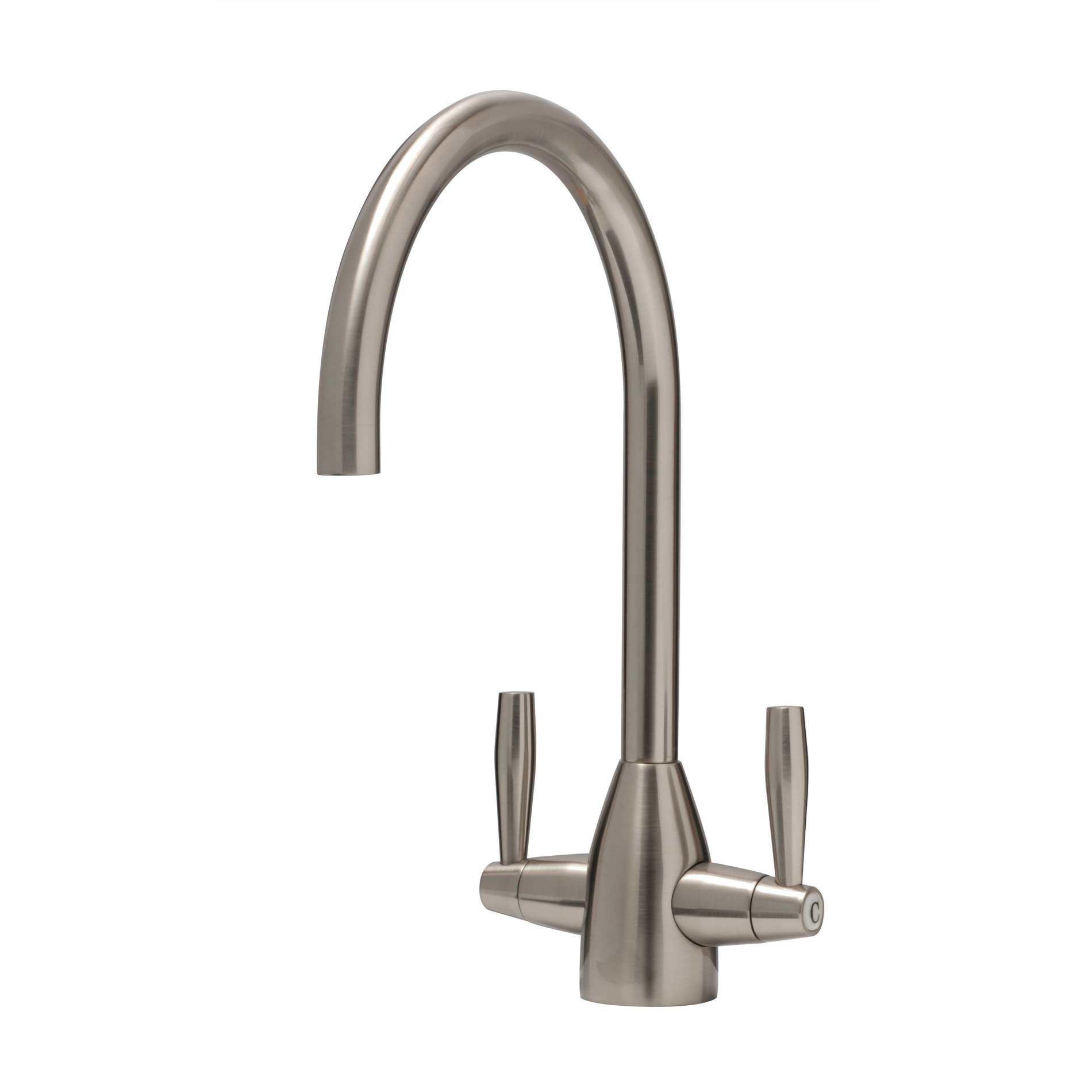 caple avel brushed nickel tap kitchen sinks taps