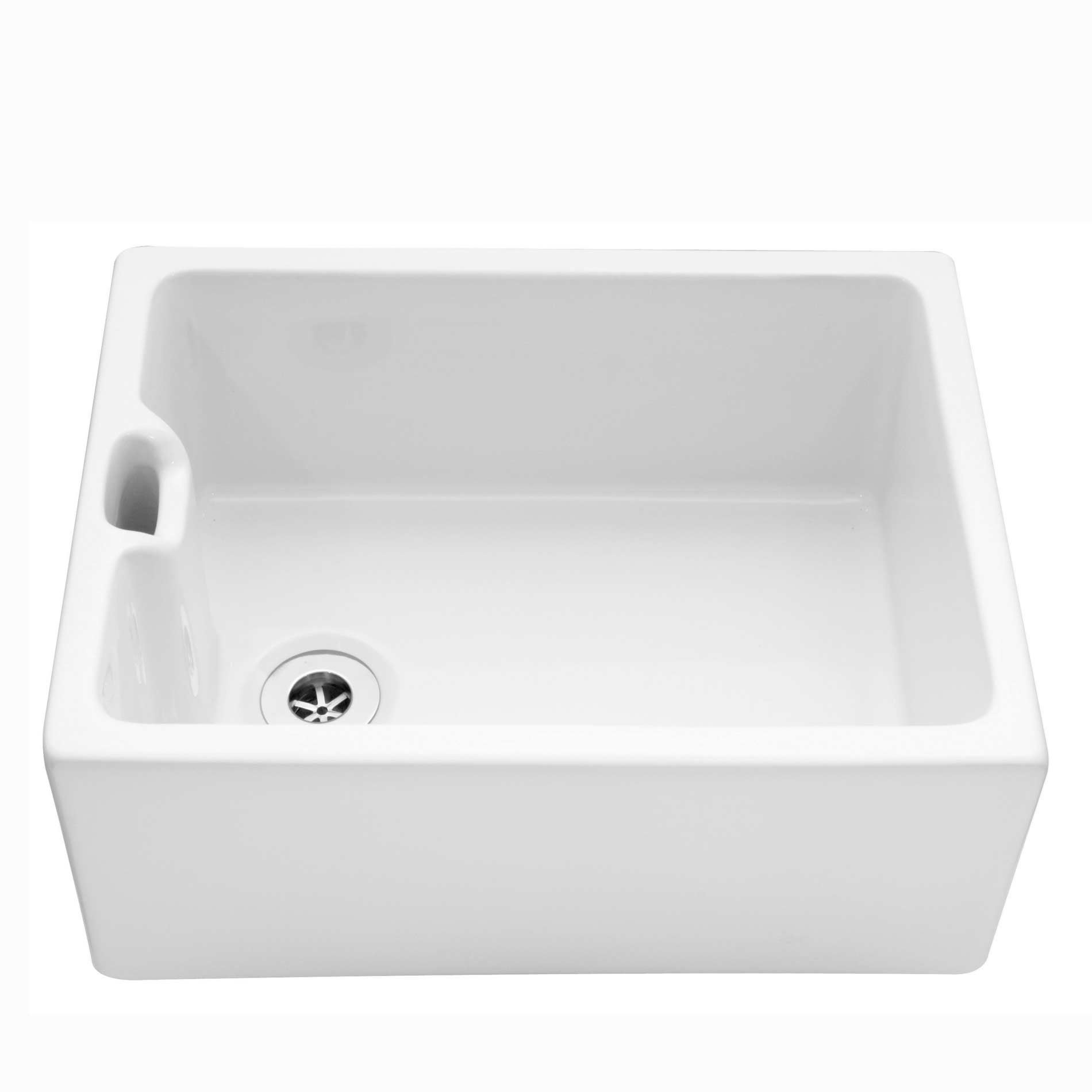 Caple: Belfast 600 Ceramic Single Bowl Sink - Kitchen Sinks & Taps
