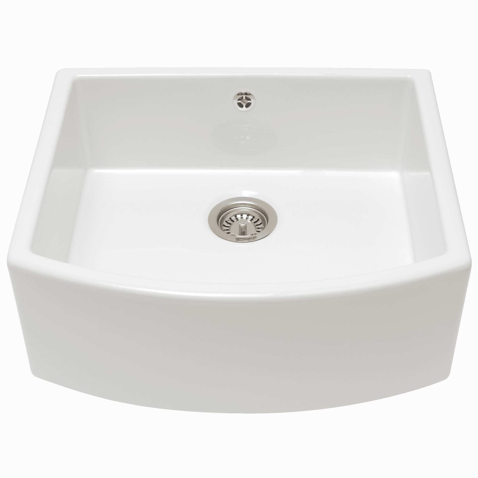 caple: pemberley ceramic single bowl sink - kitchen sinks & taps