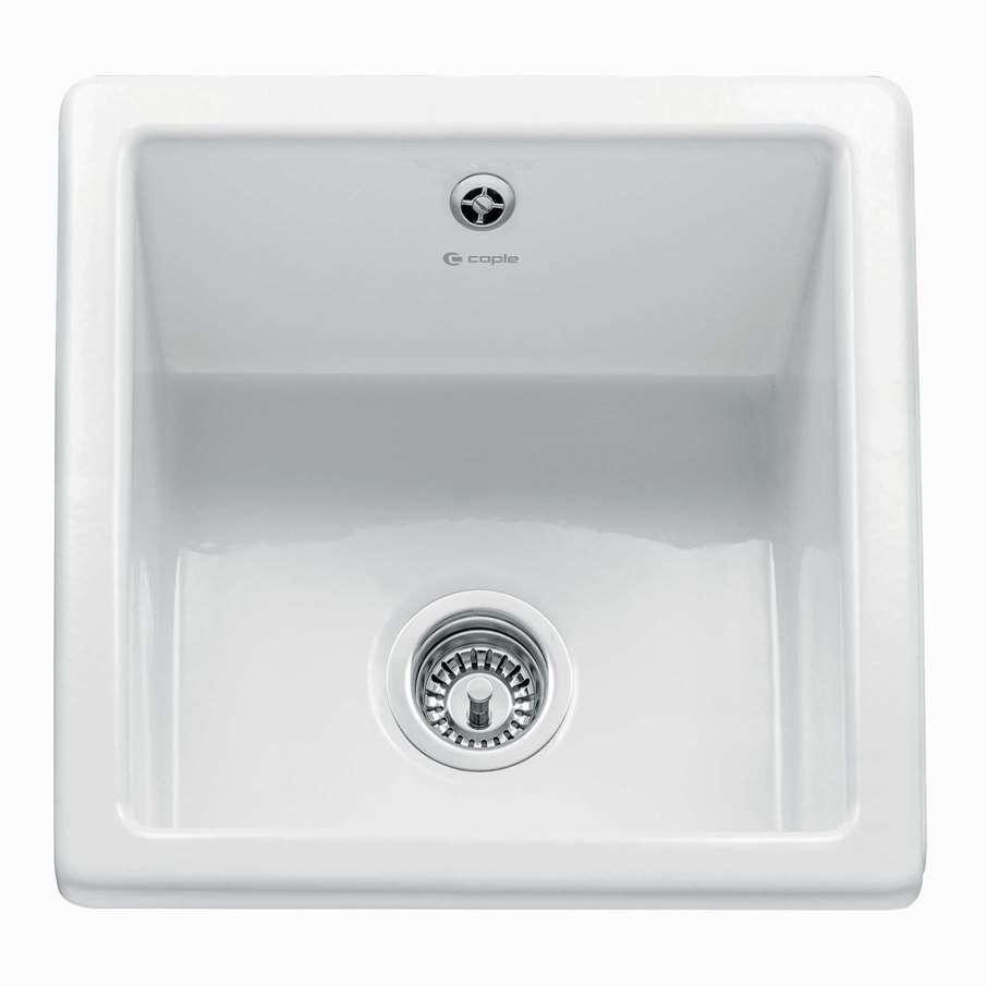 Caple: Square Bowl Ceramic Sink - Kitchen Sinks & Taps