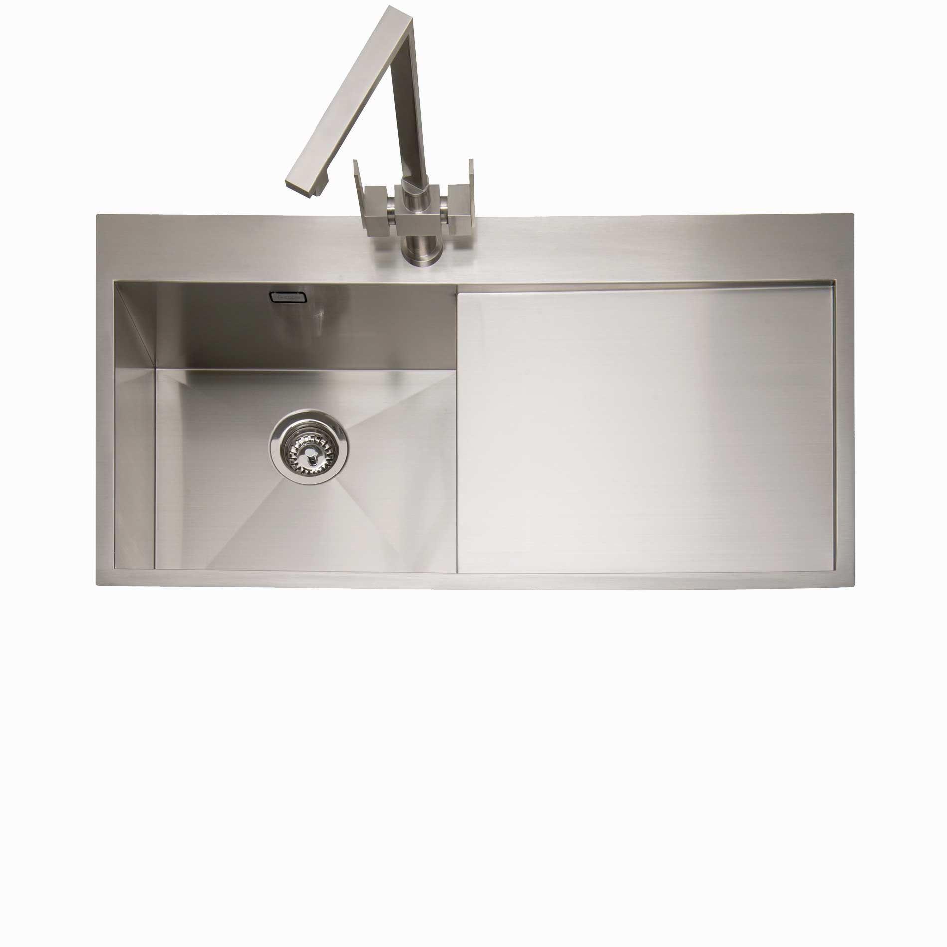 Kitchen Sink Stainless Steel   Caple Cubit 100 Stainless Steel Sink Kitchen Sinks Taps