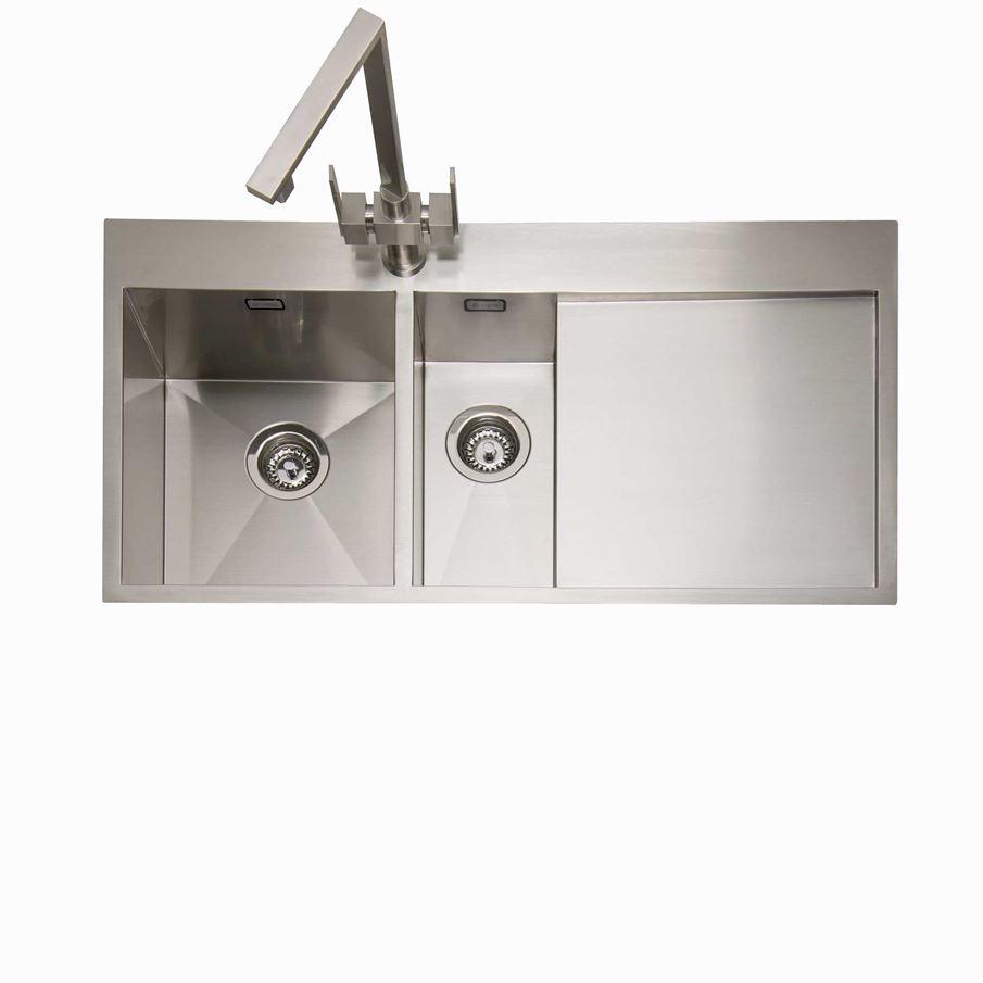 Caple: Cubit 150 Stainless Steel Sink - Kitchen Sinks & Taps