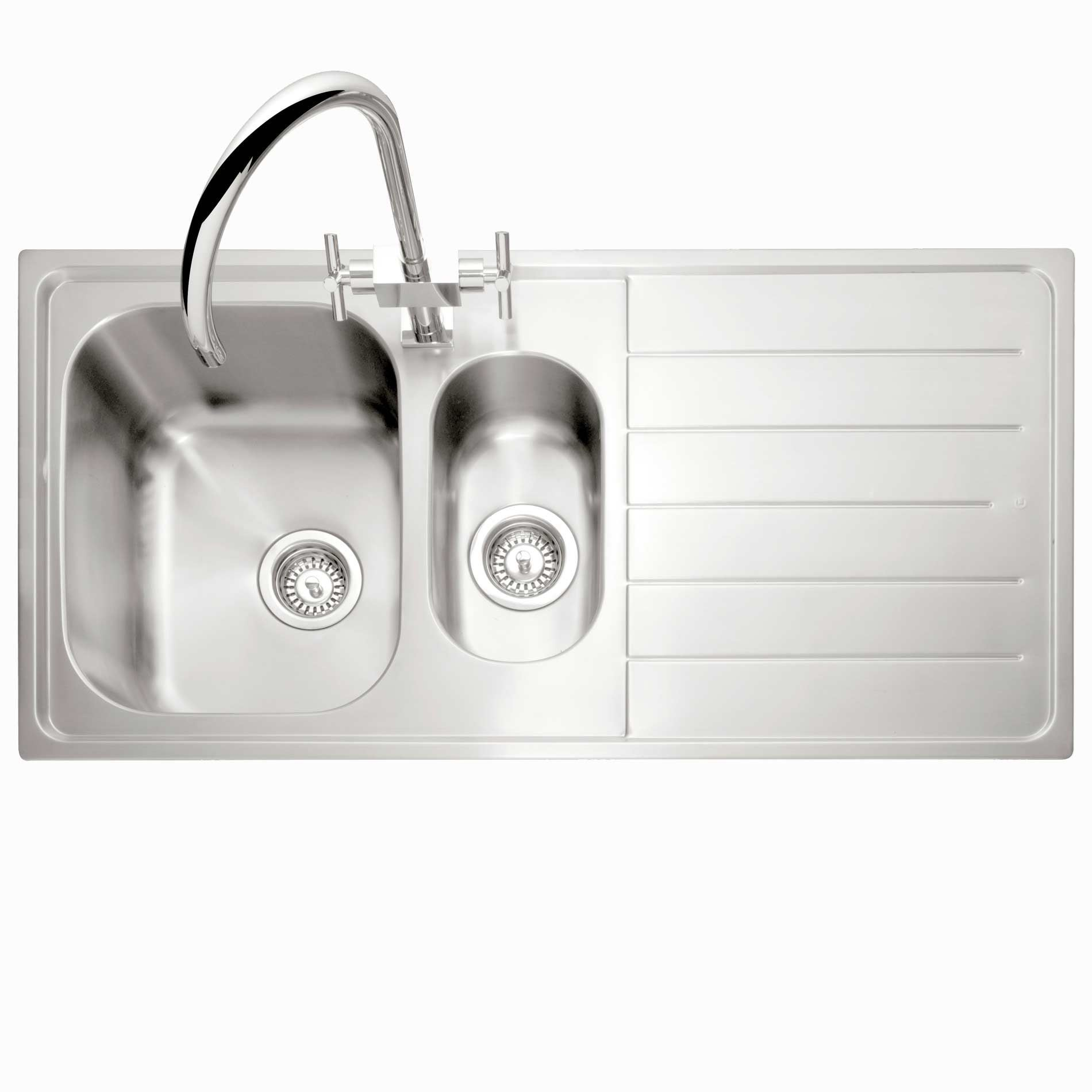 Caple: Lyon 150 Stainless Steel Sink - Kitchen Sinks & Taps