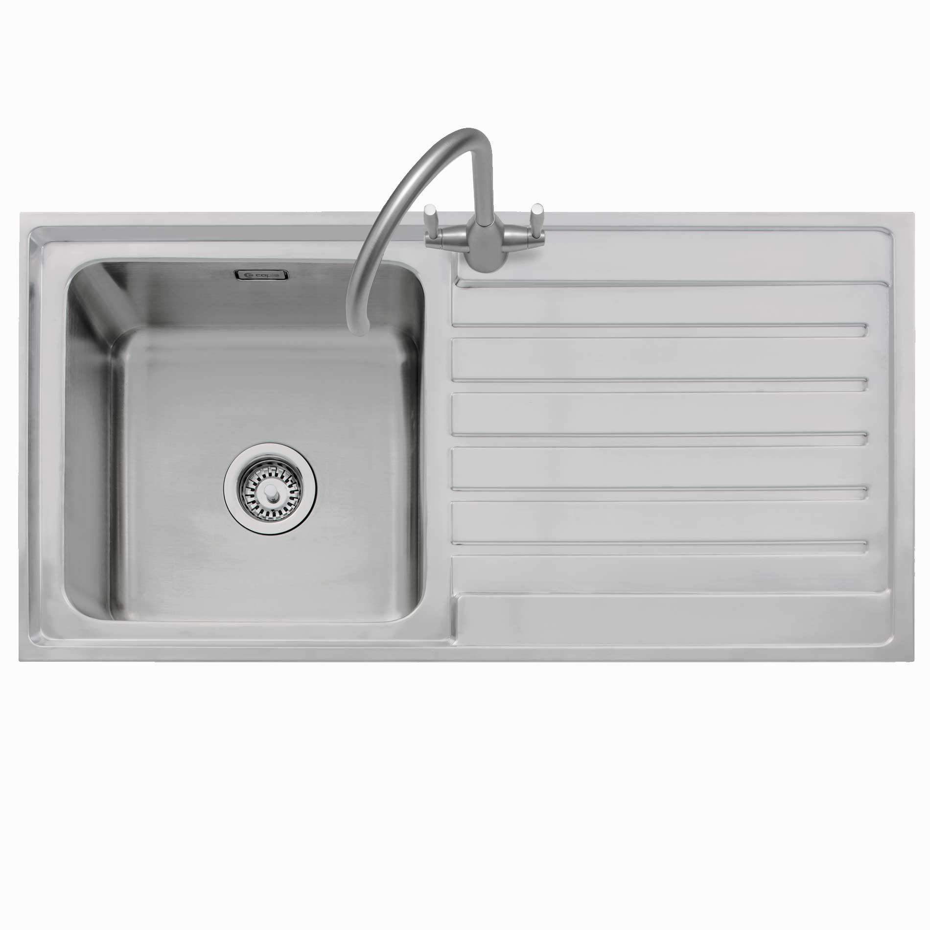 Caple: Vanga 100 Stainless Steel Sink - Kitchen Sinks & Taps