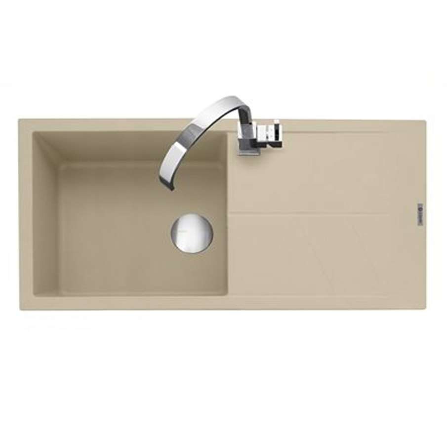 Caple: Sotera 100 Desert Sand Granite Sink - Kitchen Sinks & Taps