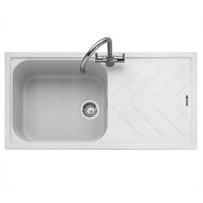 Picture of Caple: Veis 100 Chalk White Granite Sink
