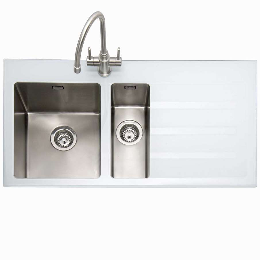 Kitchen Sinks & Taps - Caple: Vitrea 150 Stainless Steel And White ...
