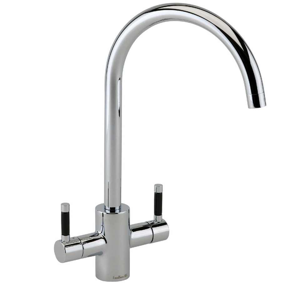 Black Kitchen Sink Taps Uk: Reginox: Genesis Chrome Tap With Black Handles