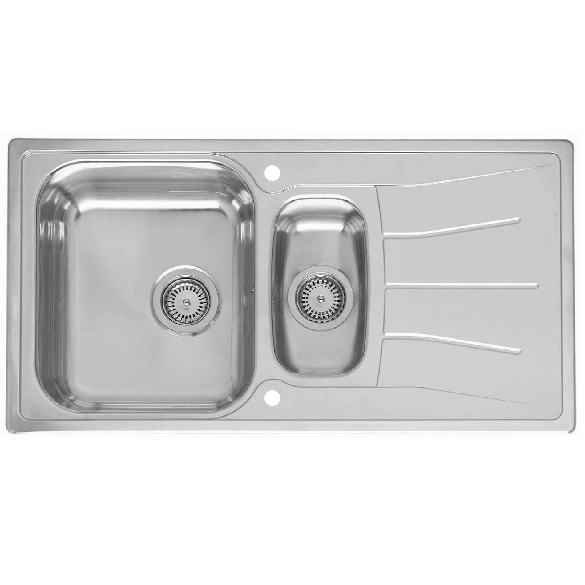 picture of diplomat 1 5 eco   rle220s stainless steel sink reginox  diplomat 1 5 eco   rle220s stainless steel sink   kitchen      rh   kitchensinksandtaps co uk