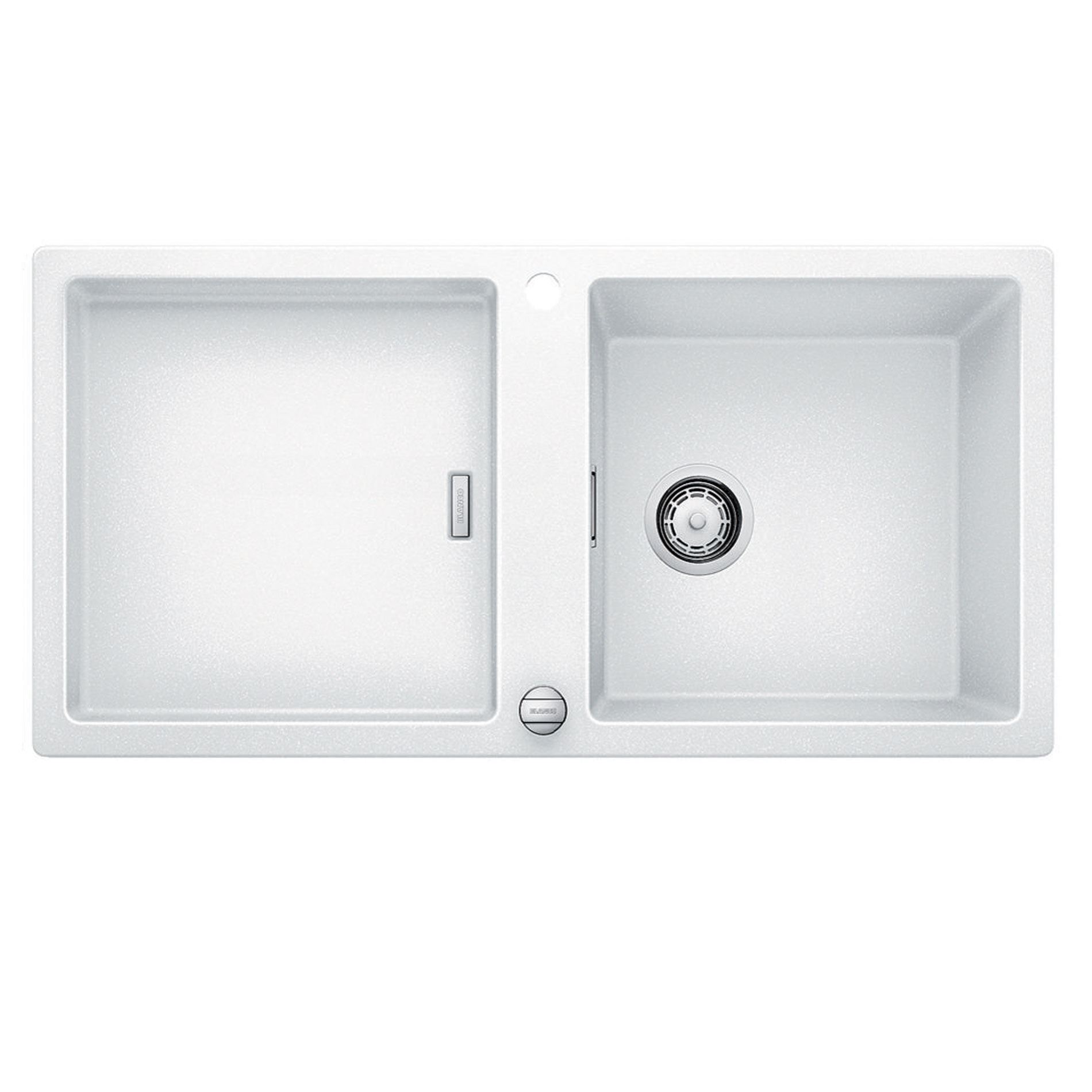 White Silgranit Sink : Blanco: Adon XL 6 S White Silgranit Sink - Kitchen Sinks & Taps