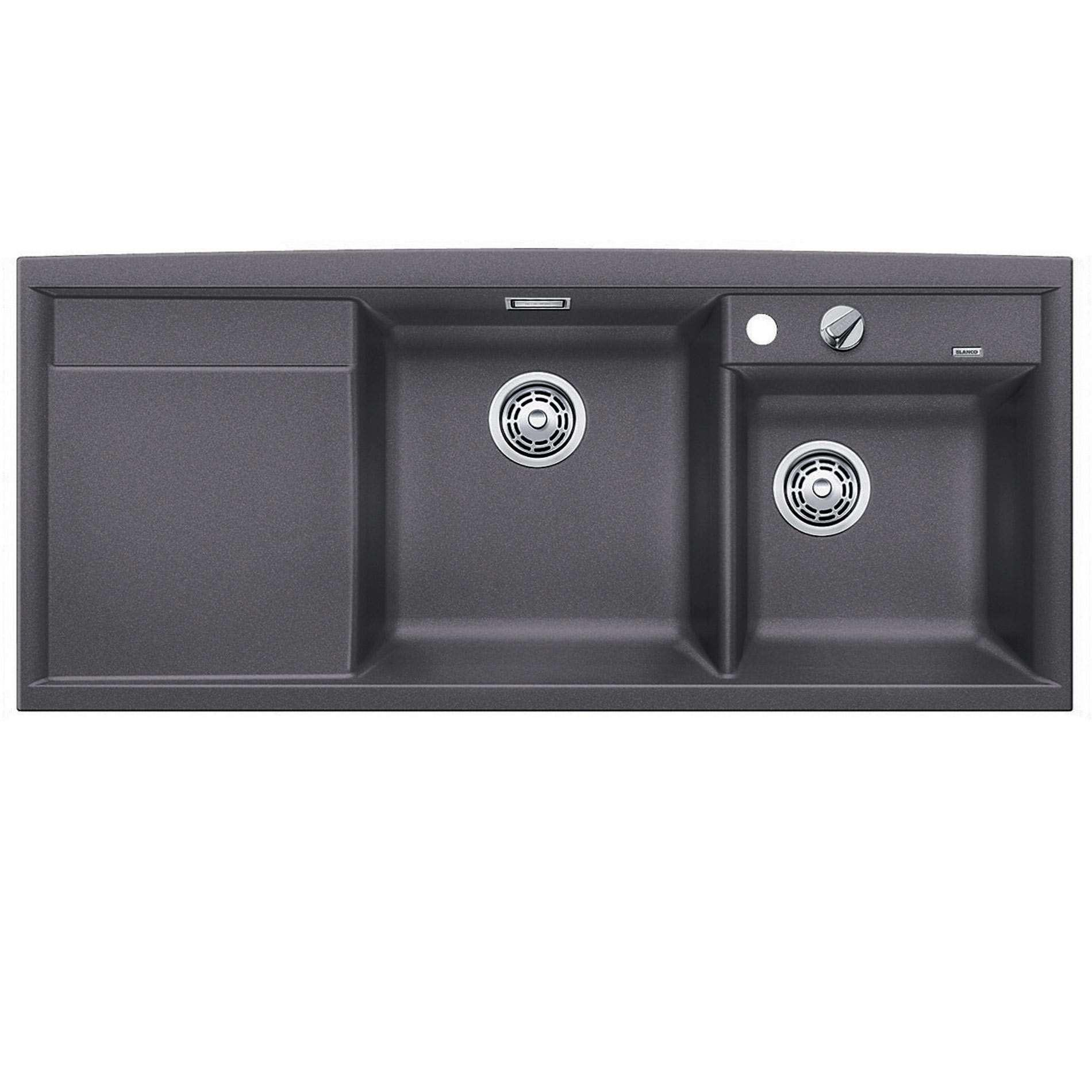 Blanco Grey Sink : Blanco: Axia II 8 S Rock Grey Silgranit Sink - Kitchen Sinks & Taps