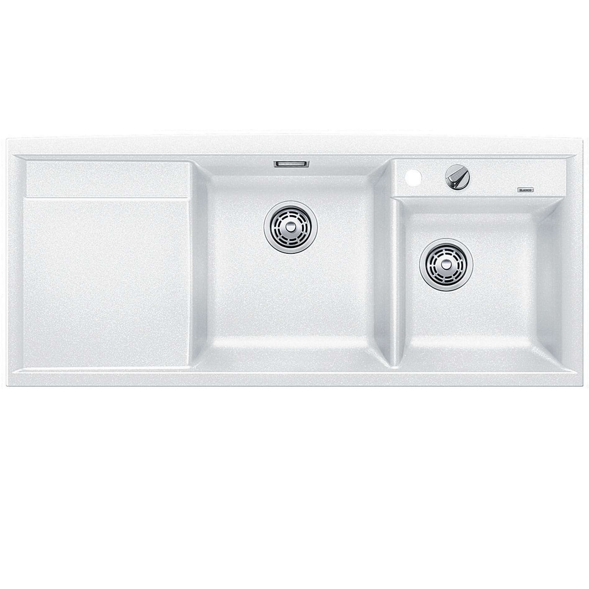 White Silgranit Sink : Blanco: Axia II 8 S White Silgranit Sink - Kitchen Sinks & Taps