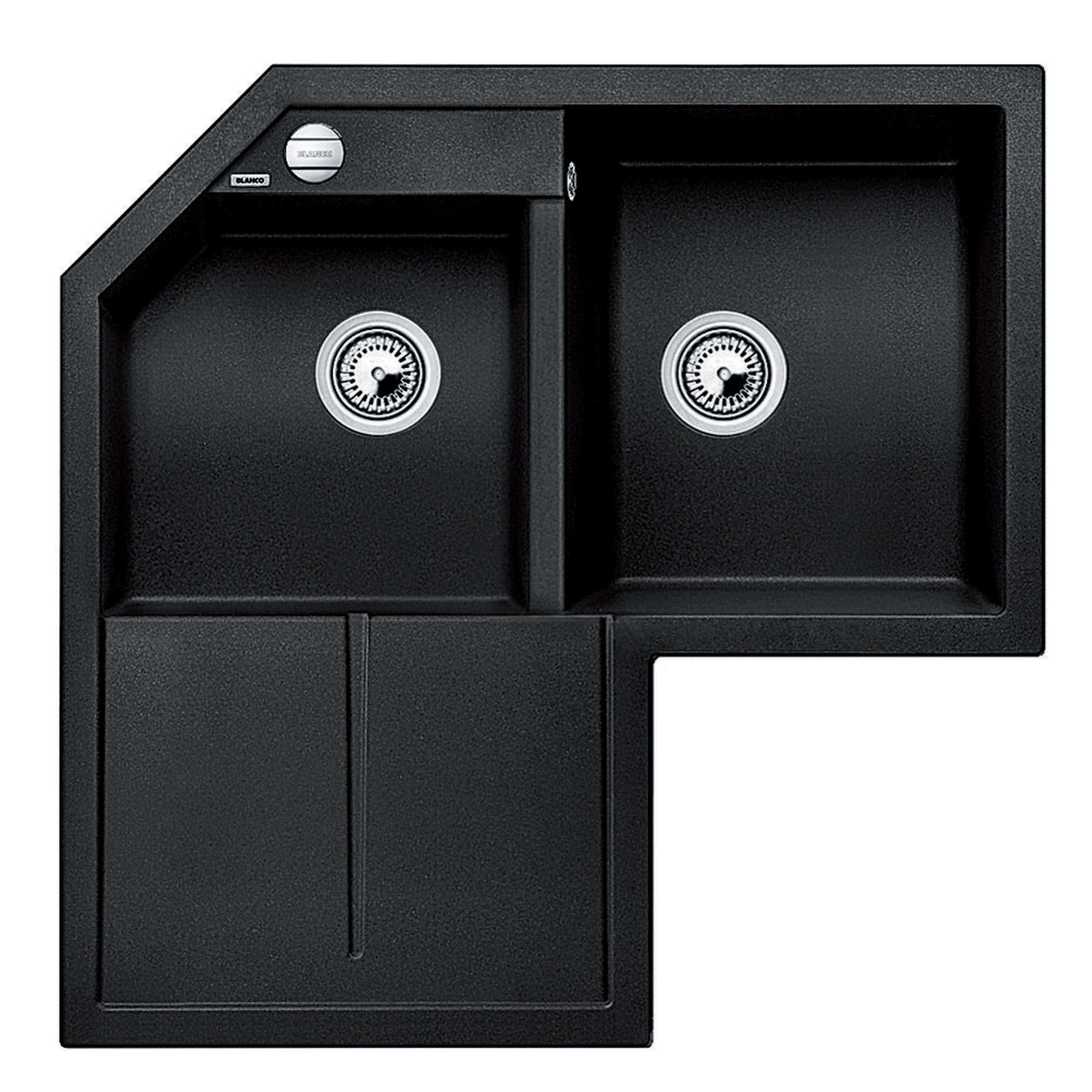 Anthracite Kitchen Sink : Blanco: Metra 9 E Anthracite Silgranit Sink - Kitchen Sinks & Taps