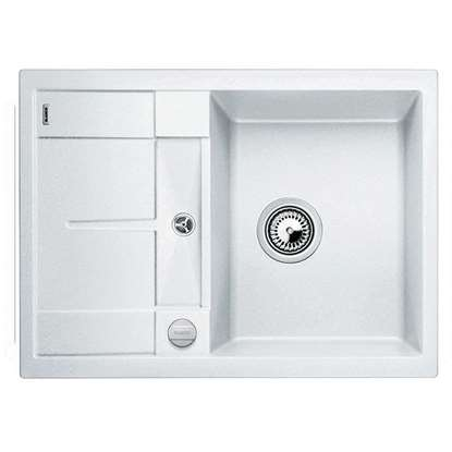 Picture of Blanco: Metra 45 S Compact White Silgranit Sink